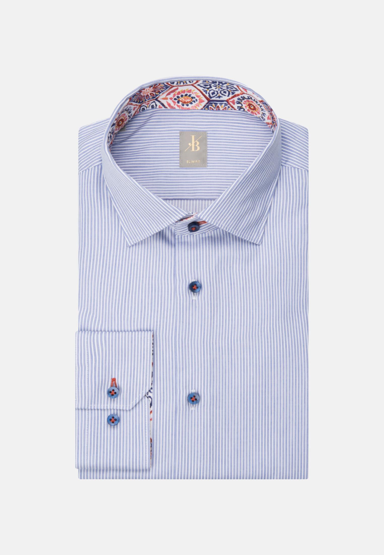 Twill Business Hemd in Slim Fit mit Kentkragen und extra langem Arm in Hellblau    Jacques Britt Onlineshop
