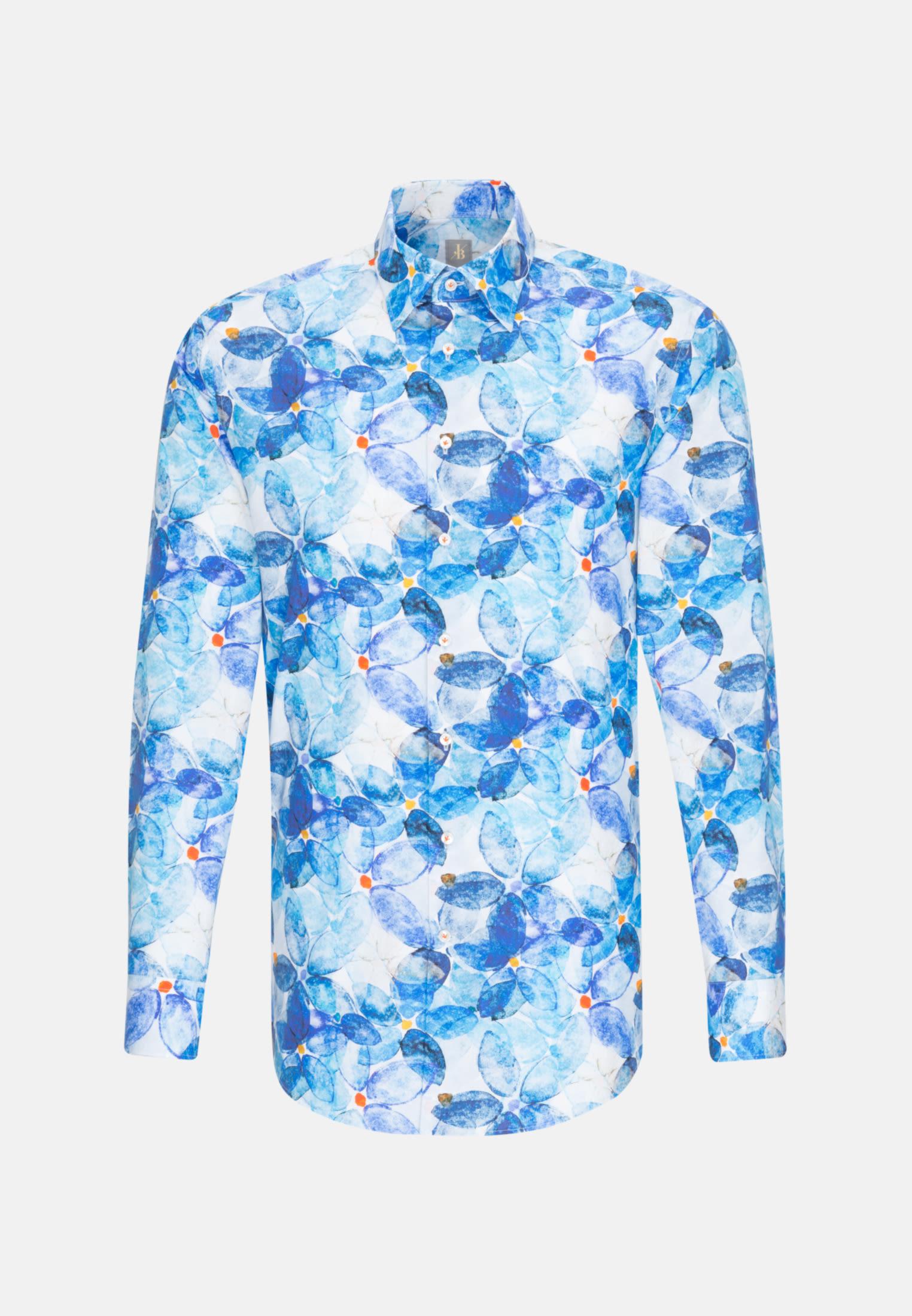 Popeline Business Hemd in Slim Fit mit Under-Button-Down-Kragen in Hellblau |  Jacques Britt Onlineshop