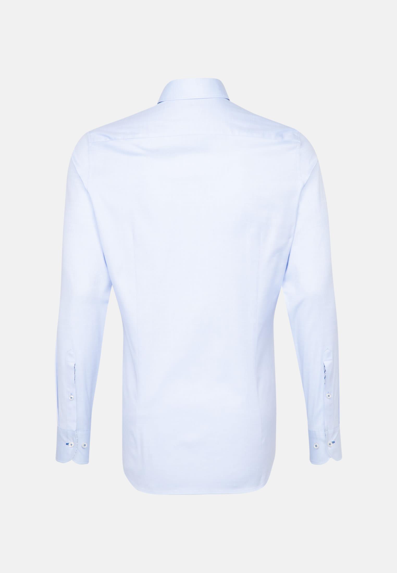 Struktur Business Hemd in Custom Fit mit Under-Button-Down-Kragen in Hellblau    Jacques Britt Onlineshop