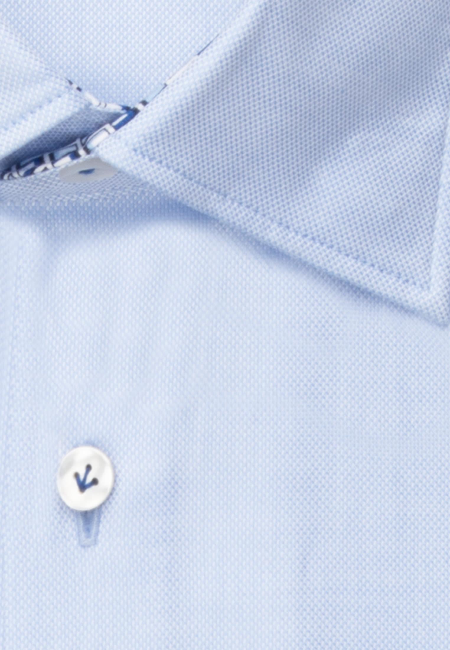 Struktur Business Hemd in Slim Fit mit Under-Button-Down-Kragen in Hellblau    Jacques Britt Onlineshop