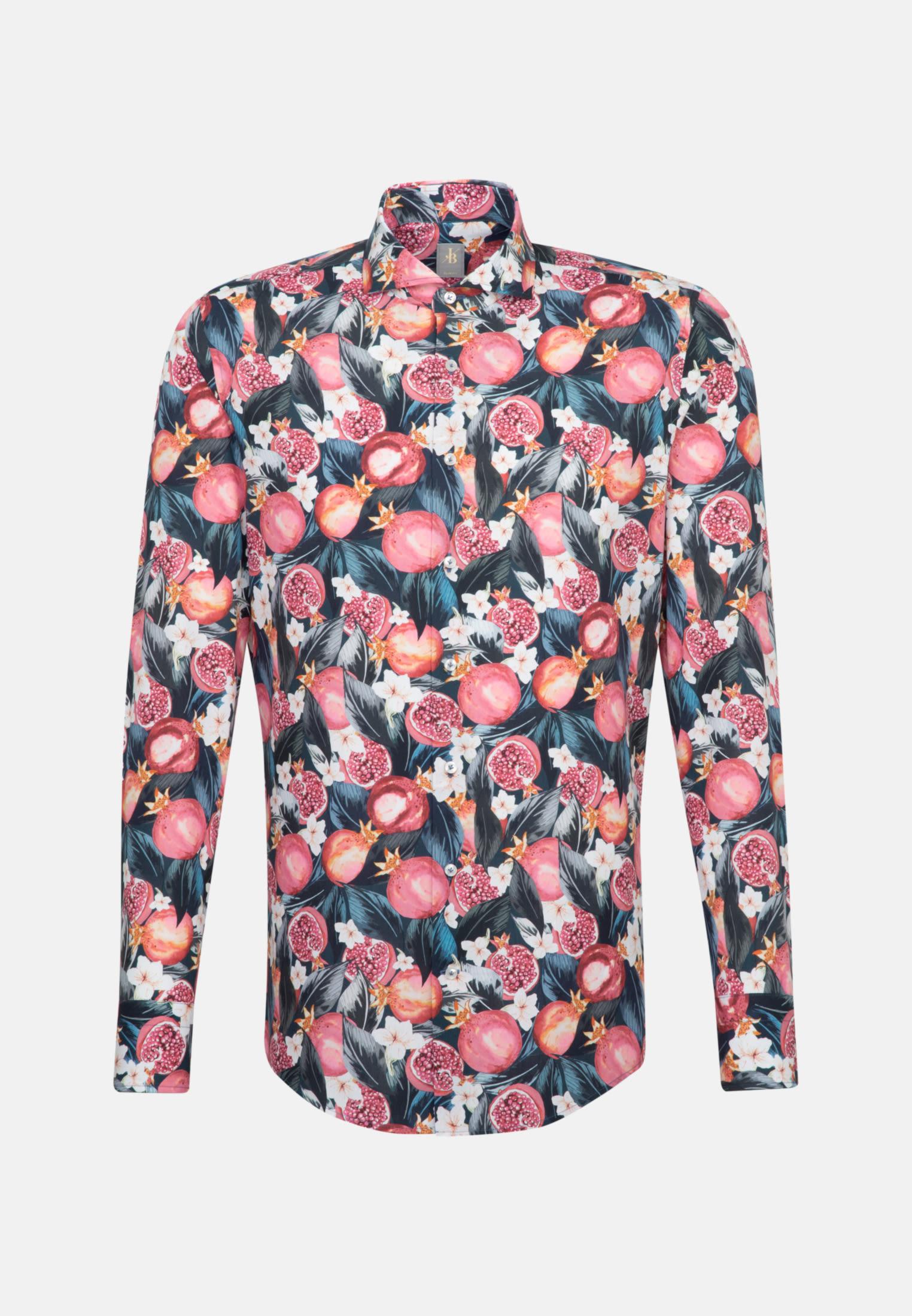 Popeline Business Hemd in Custom Fit mit Haifischkragen in Rosa/Pink |  Jacques Britt Onlineshop
