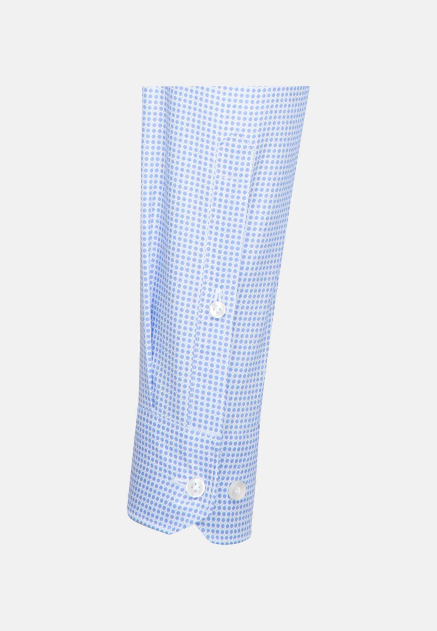 Twill Business Hemd in Slim Fit mit Kentkragen in Mittelblau |  Jacques Britt Onlineshop