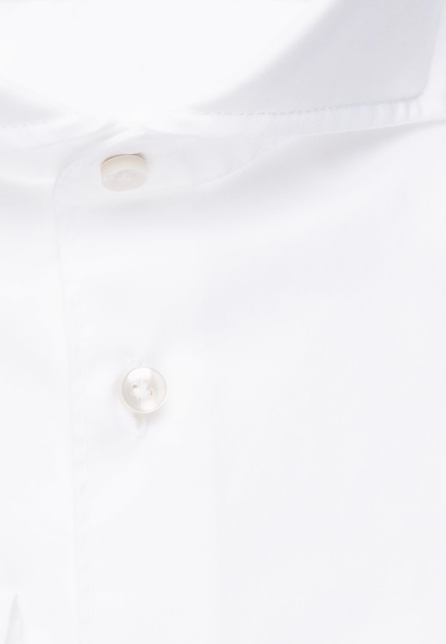 Twill Smart Casual Hemd in Perfect Fit mit Haifischkragen in Weiß |  Jacques Britt Onlineshop