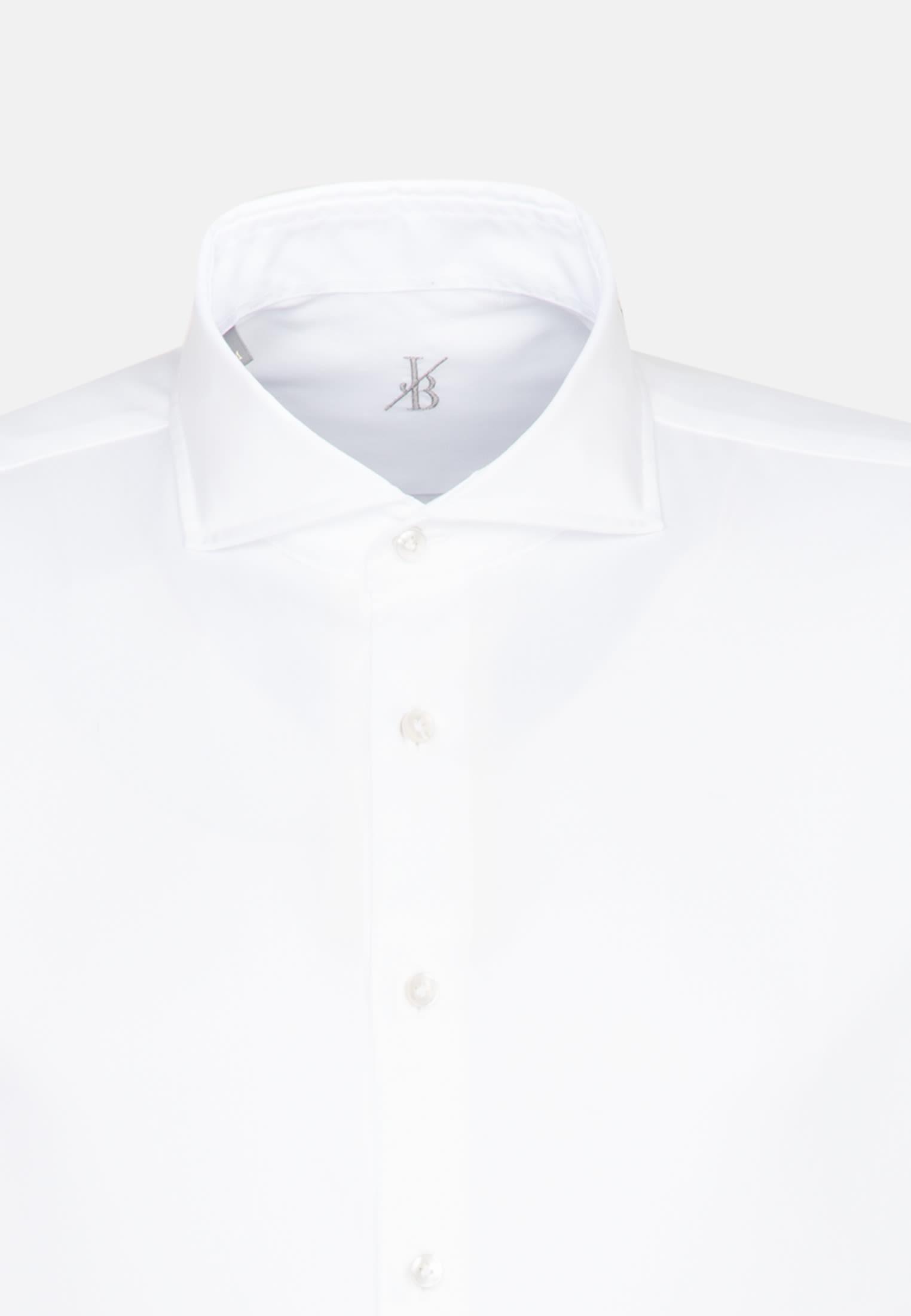 Twill Smart Casual Hemd in Perfect Fit mit Haifischkragen in Weiß    Jacques Britt Onlineshop