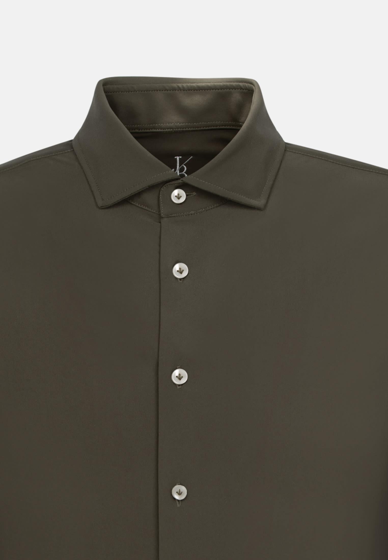 Jersey Smart Casual Hemd in Perfect Fit mit Haifischkragen in Grün |  Jacques Britt Onlineshop