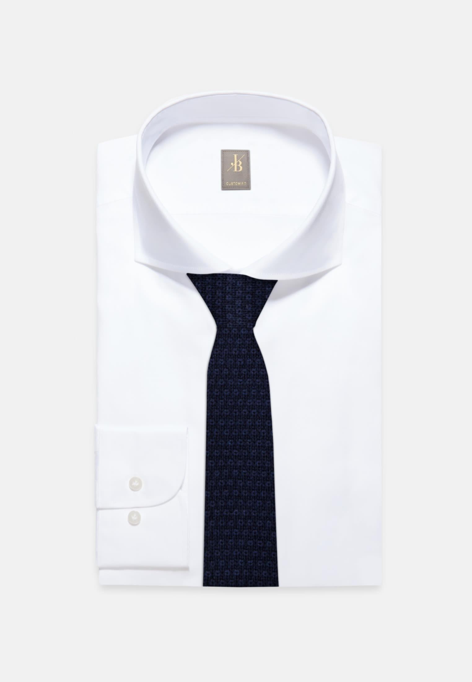 Krawatte aus 100% Wolle 5 cm Breit in Dunkelblau |  Jacques Britt Onlineshop