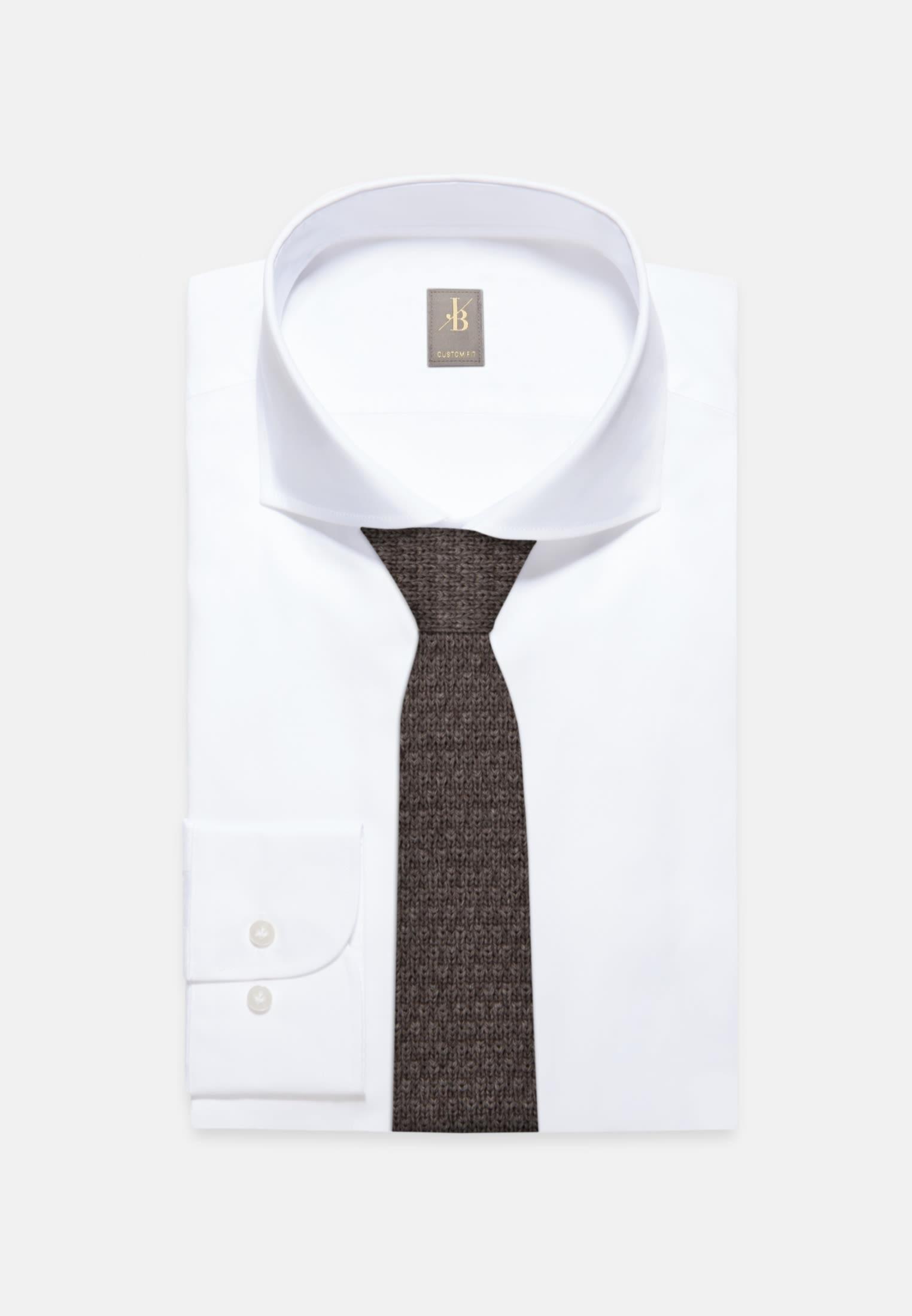 Krawatte aus 100% Wolle 5 cm Breit in Braun    Jacques Britt Onlineshop