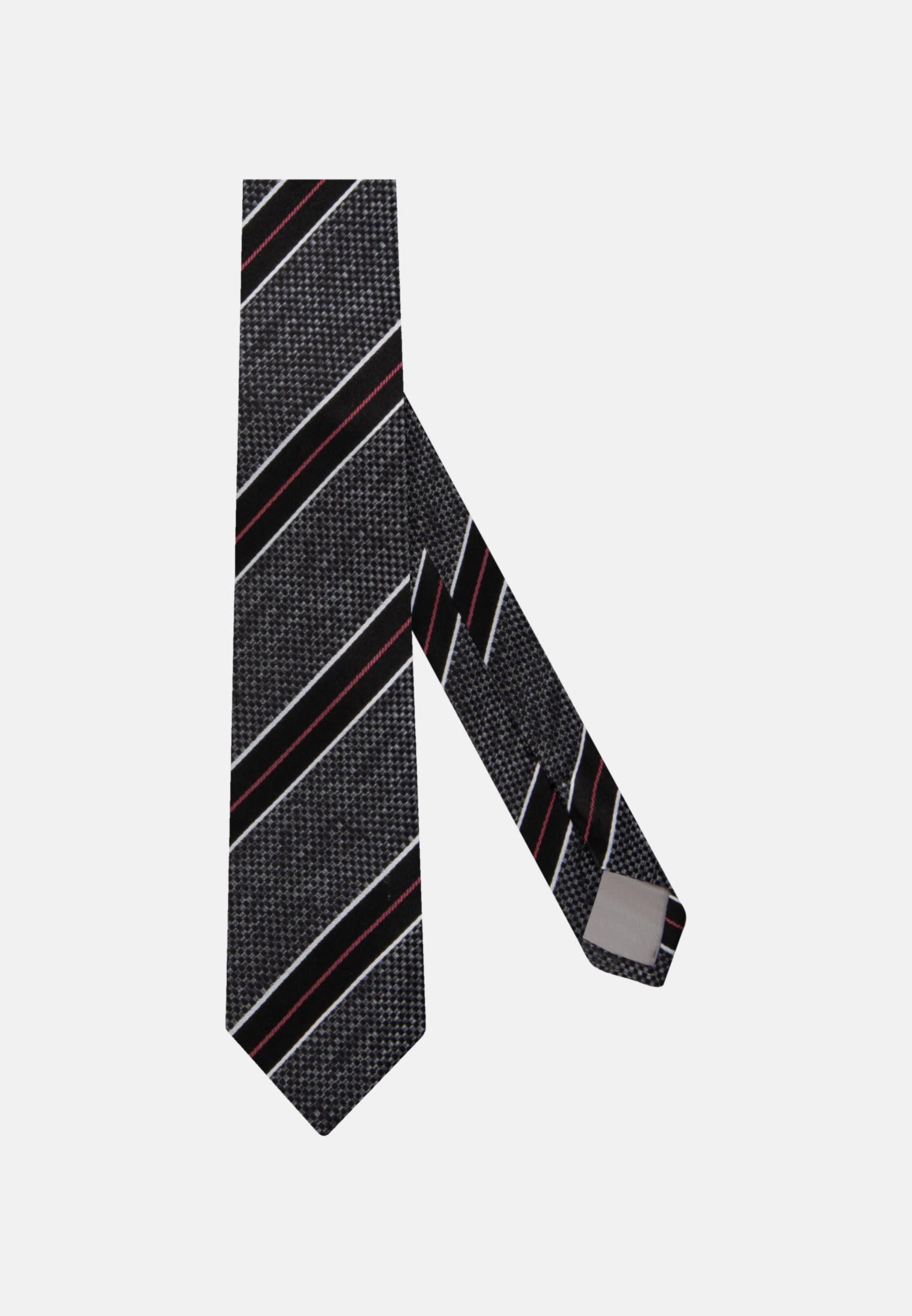 Krawatte aus 100% Seide 7 cm Breit in Grau    Jacques Britt Onlineshop
