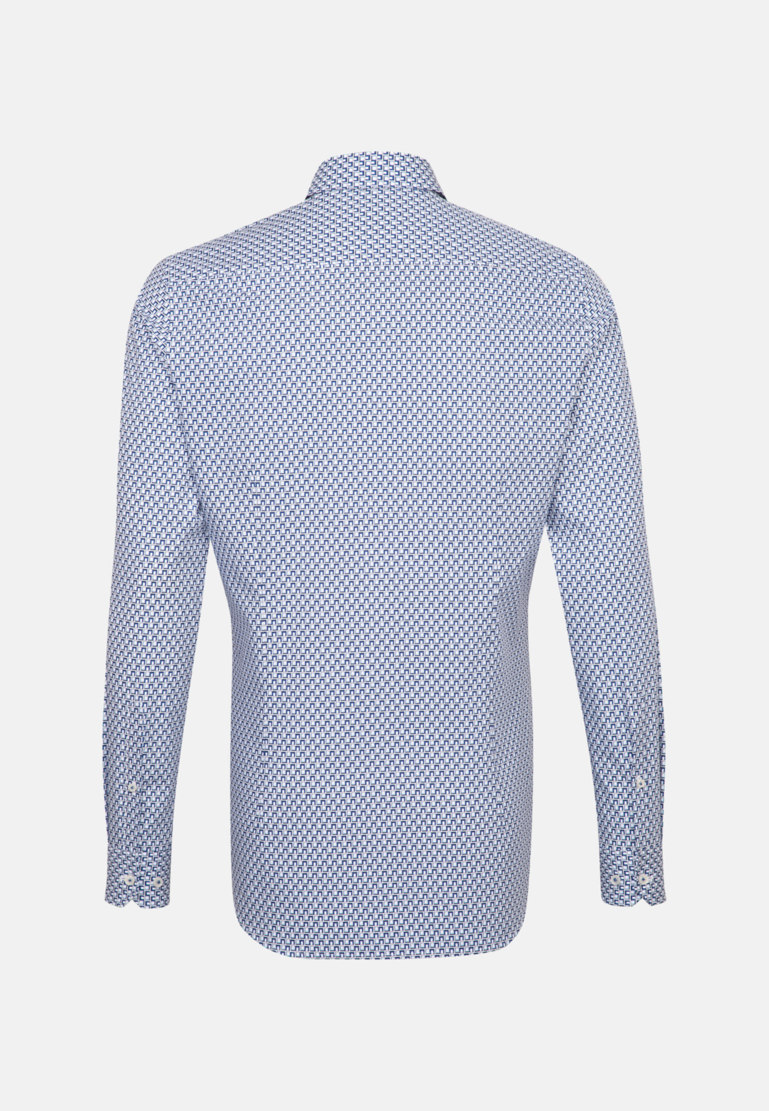 Popeline Business Hemd in Slim Fit mit Kentkragen und extra langem Arm in Mittelblau |  Jacques Britt Onlineshop