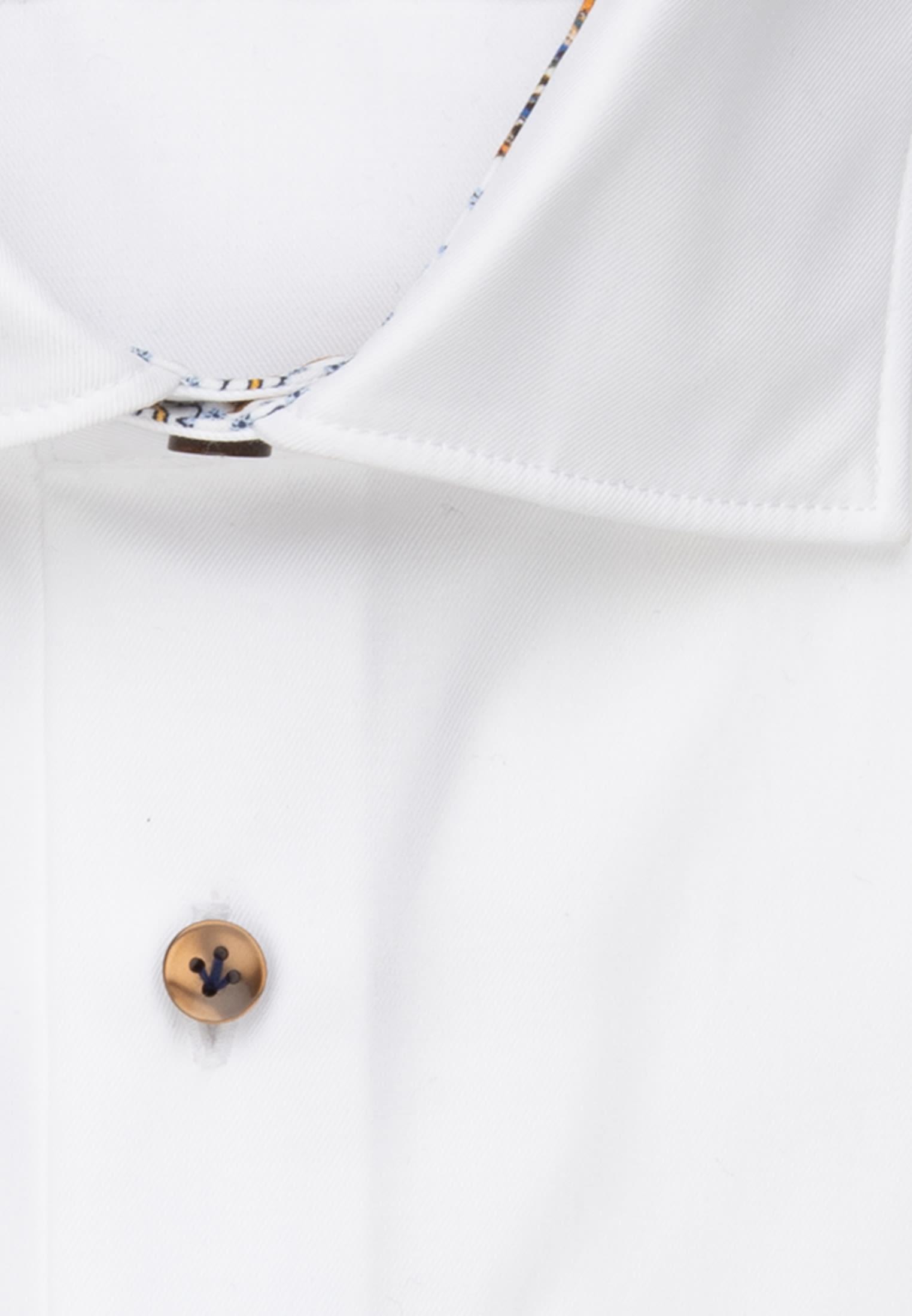 Twill Business Hemd in Slim Fit mit Kentkragen in Weiß |  Jacques Britt Onlineshop