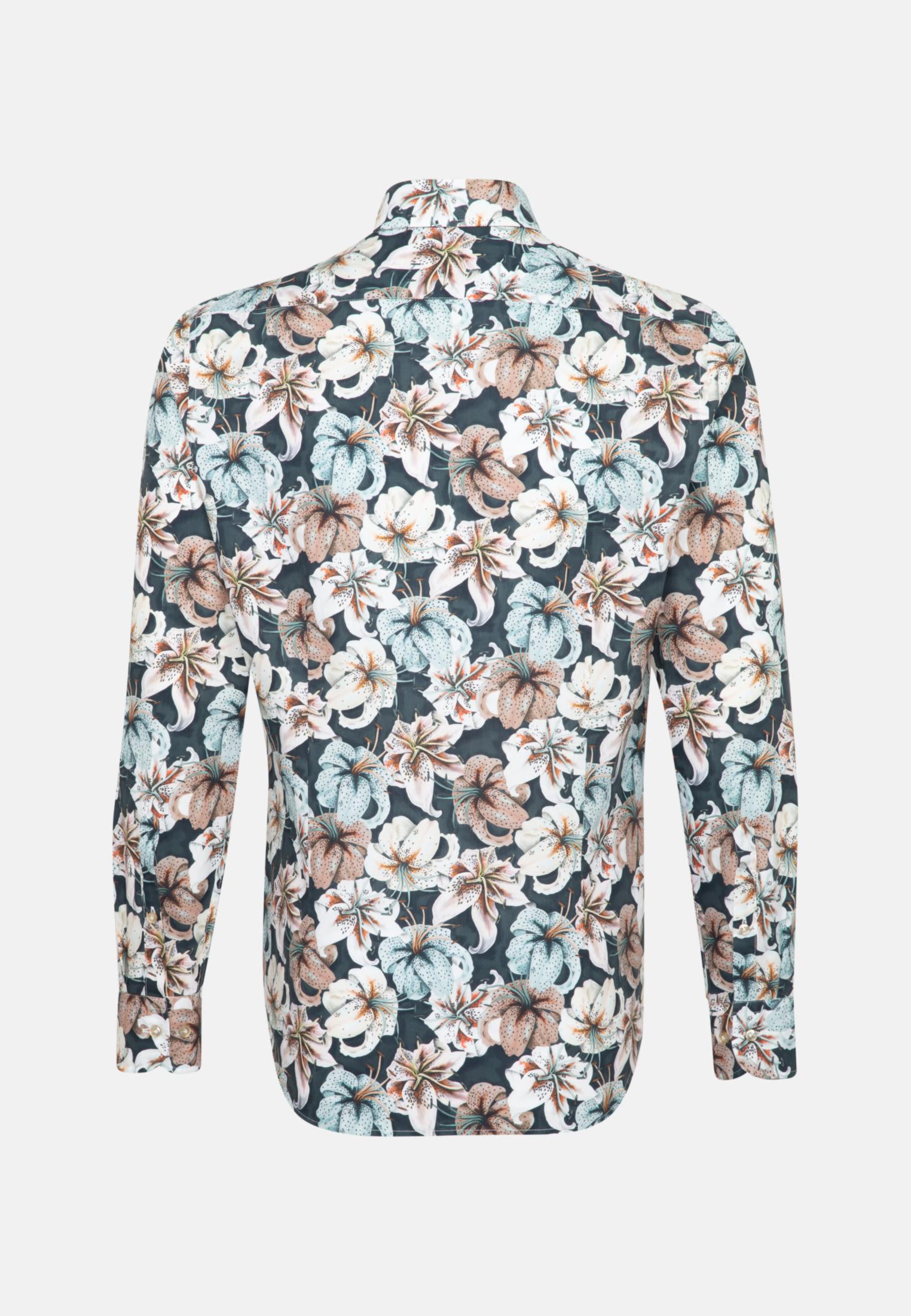Popeline Smart Casual Hemd in Perfect Fit mit Haifischkragen in Grau |  Jacques Britt Onlineshop