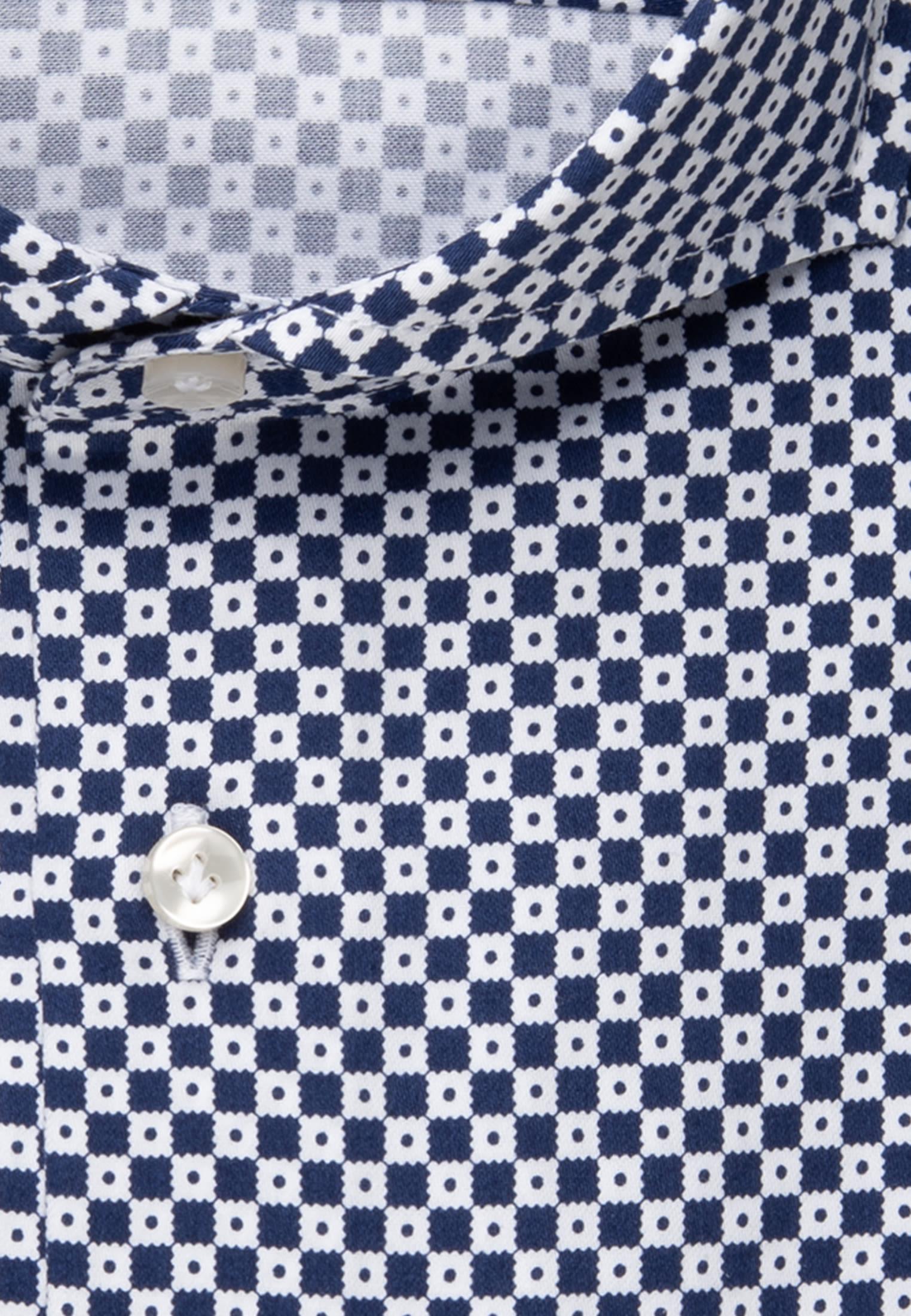 Satin Business Hemd in Slim Fit mit Haifischkragen in Mittelblau |  Jacques Britt Onlineshop