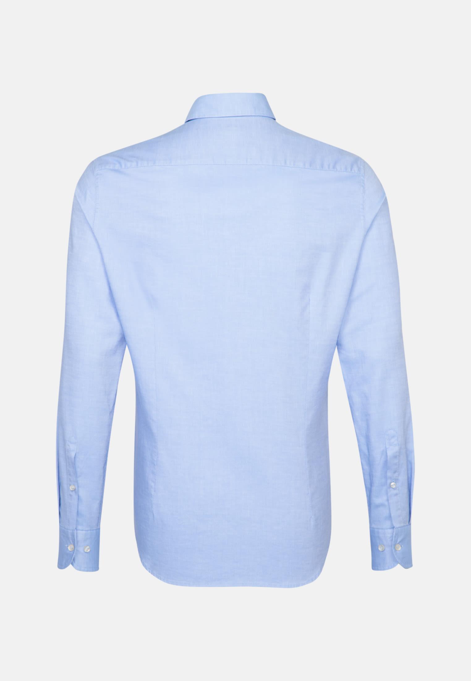 Oxford Smart Casual Hemd in Slim Fit mit Haifischkragen in Hellblau |  Jacques Britt Onlineshop