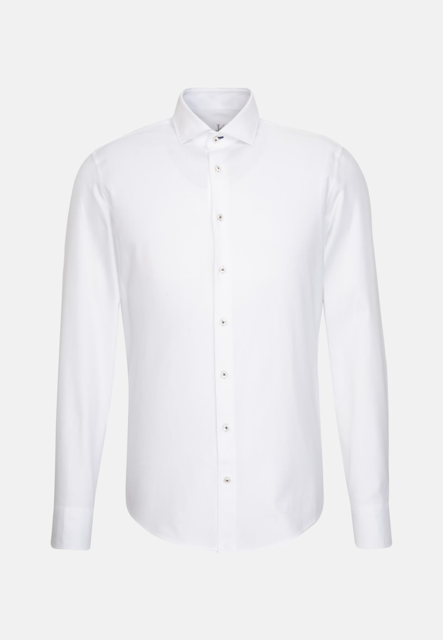 Melange Garne Smart Casual Hemd in Perfect Fit mit Haifischkragen in Weiß |  Jacques Britt Onlineshop