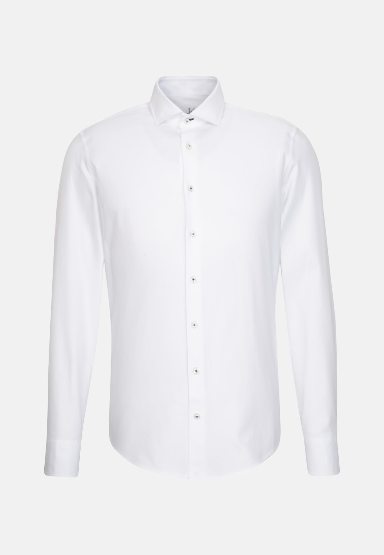 Melange Garne Smart Casual Hemd in Perfect Fit mit Haifischkragen in Weiß    Jacques Britt Onlineshop