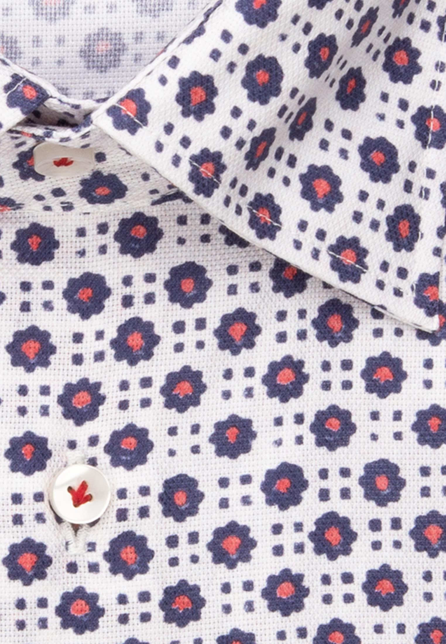 Dobby Business Hemd in Slim Fit mit Under-Button-Down-Kragen in Mittelblau    Jacques Britt Onlineshop