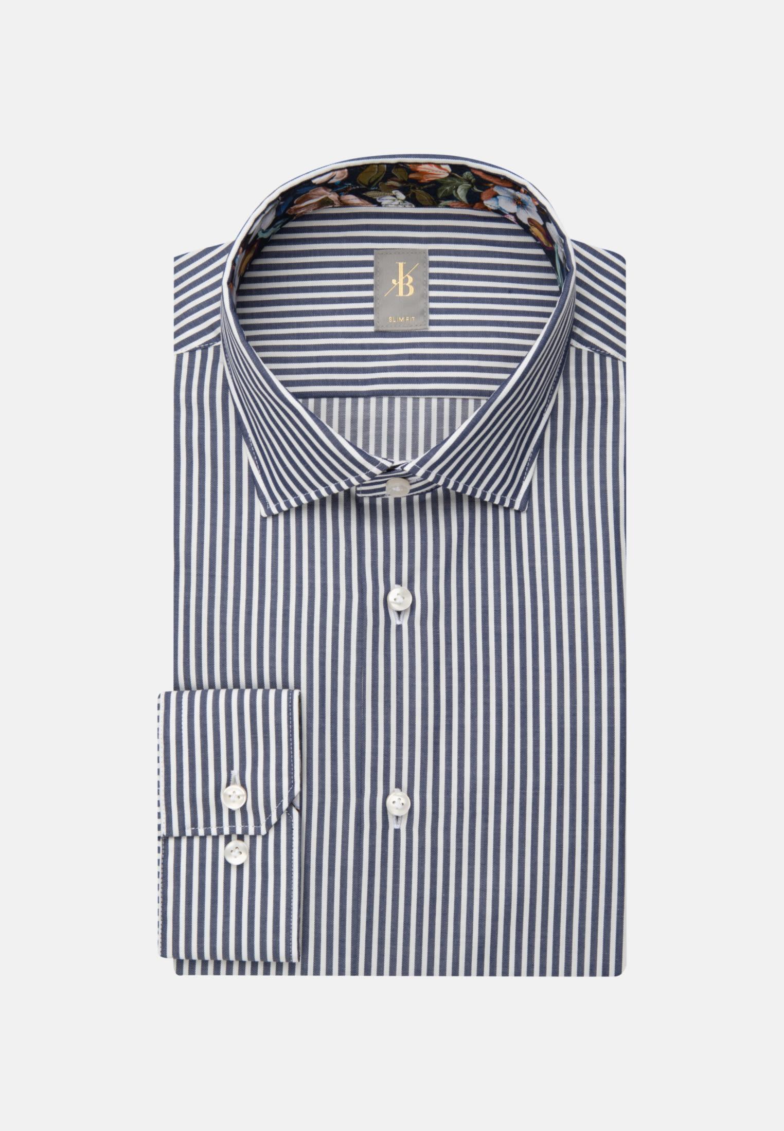 Twill Business Hemd in Slim Fit mit Kentkragen in Dunkelblau    Jacques Britt Onlineshop