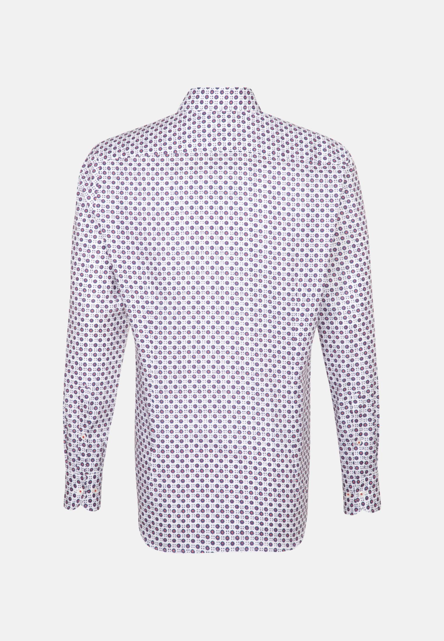 Dobby Business Hemd in Custom Fit mit Under-Button-Down-Kragen in Mittelblau |  Jacques Britt Onlineshop