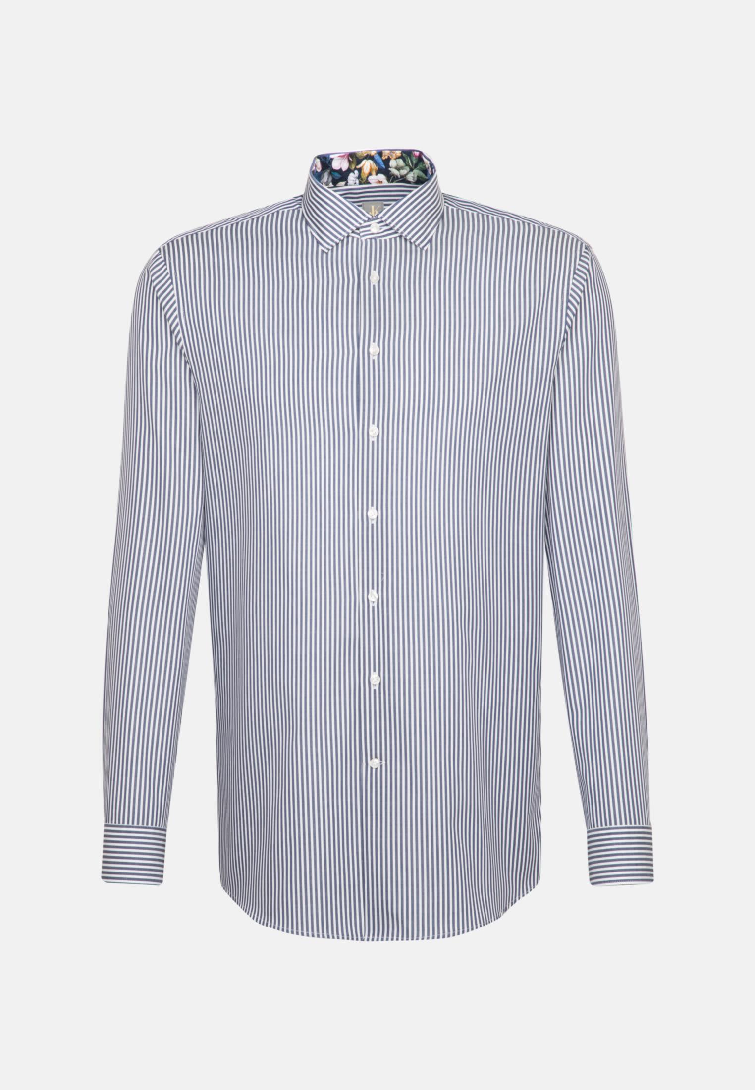 Twill Business Hemd in Custom Fit mit Kentkragen in Dunkelblau |  Jacques Britt Onlineshop