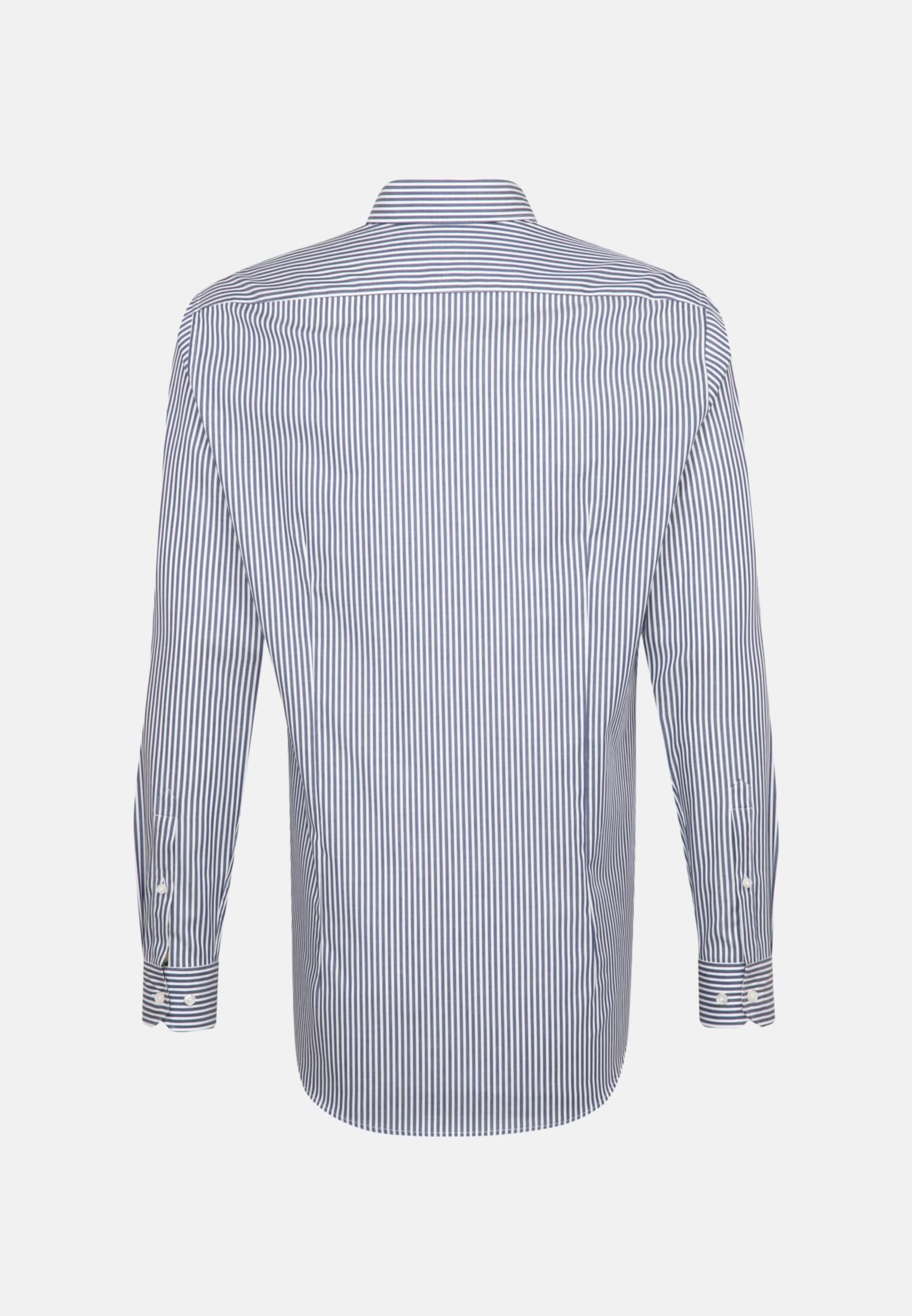 Twill Business Hemd in Custom Fit mit Kentkragen in Dunkelblau    Jacques Britt Onlineshop