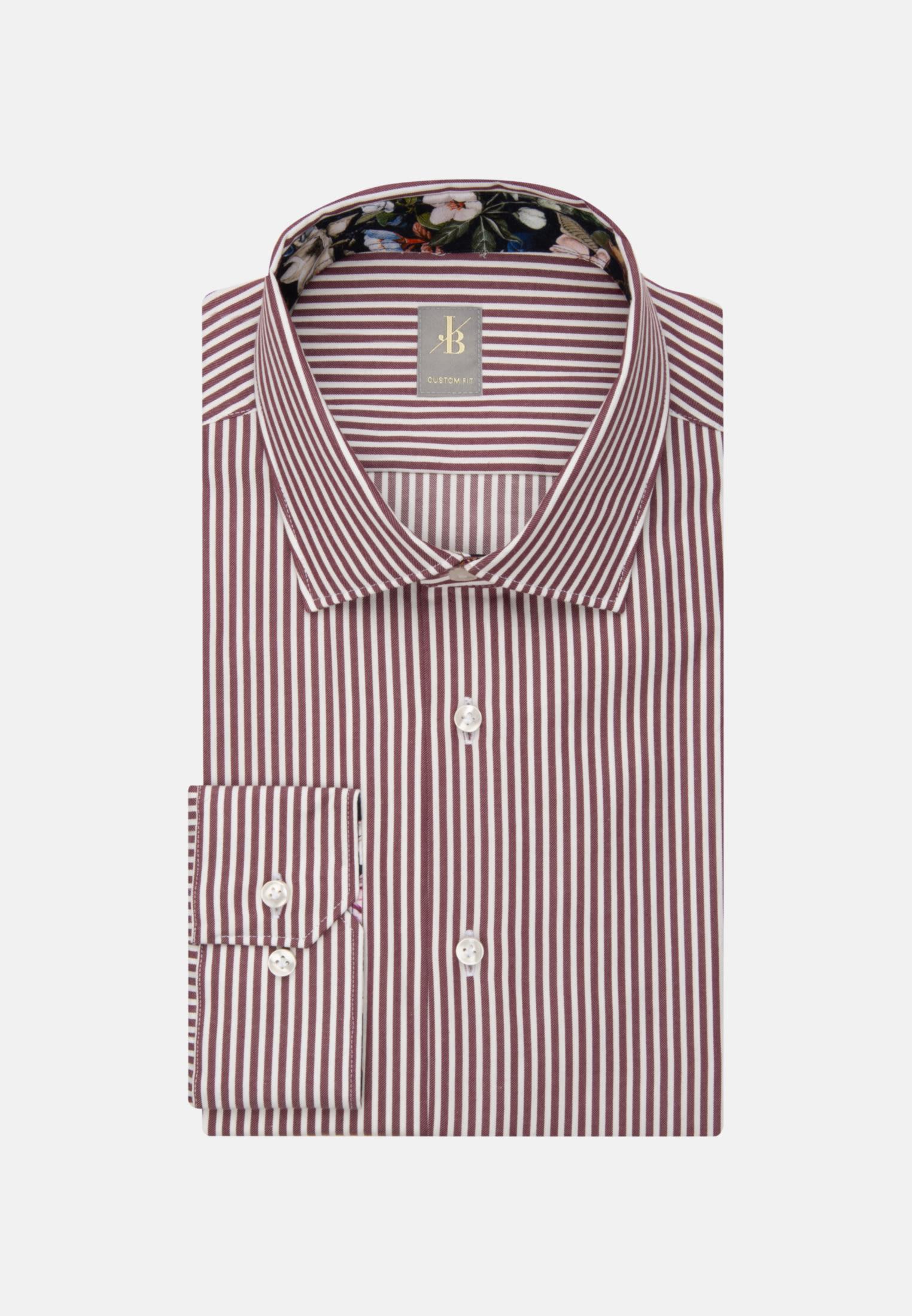 Twill Business Hemd in Custom Fit mit Kentkragen in Rosa/Pink    Jacques Britt Onlineshop