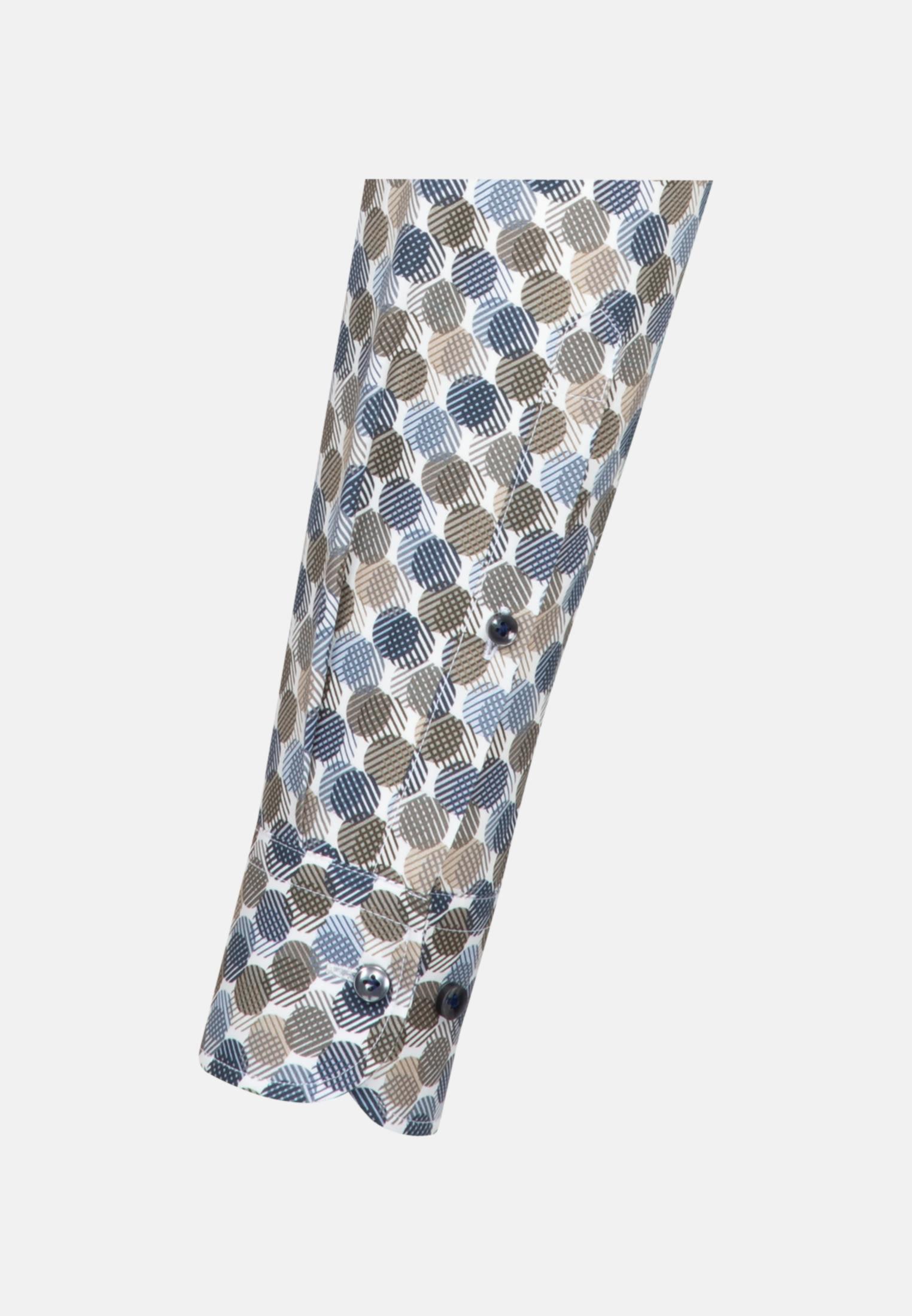 Popeline Business Hemd in Slim Fit mit Under-Button-Down-Kragen in Braun |  Jacques Britt Onlineshop