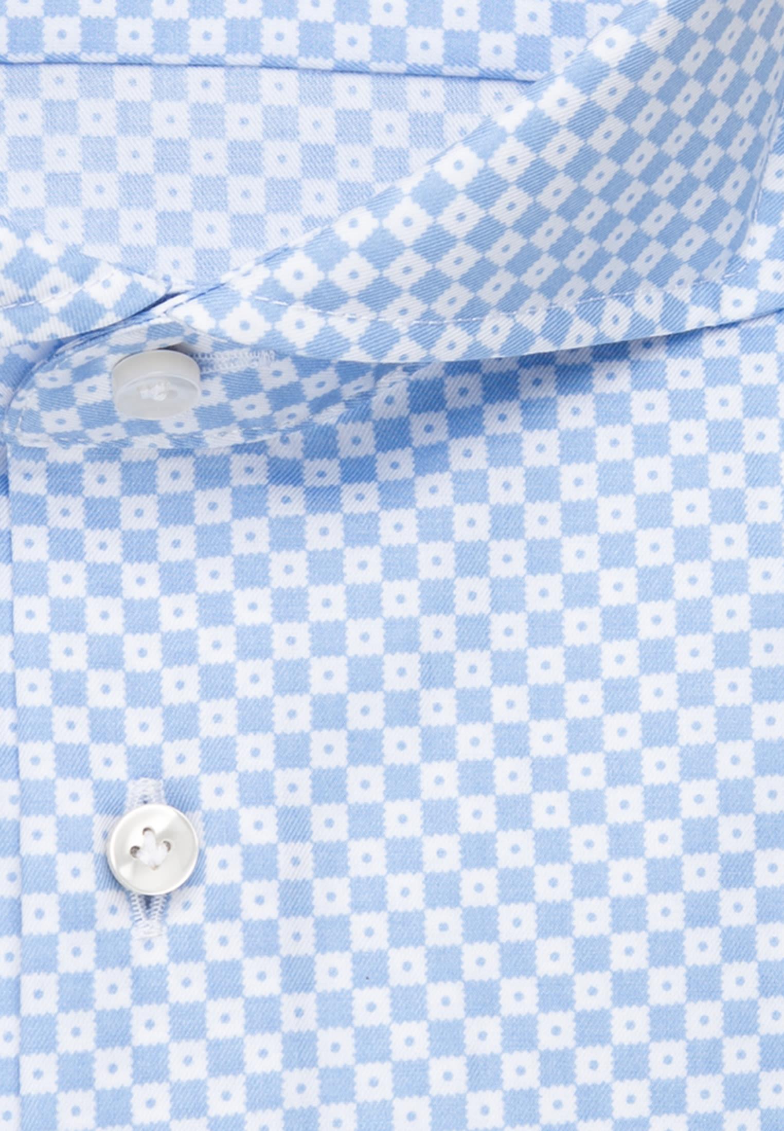 Twill Business Hemd in Custom Fit mit Haifischkragen in Hellblau    Jacques Britt Onlineshop
