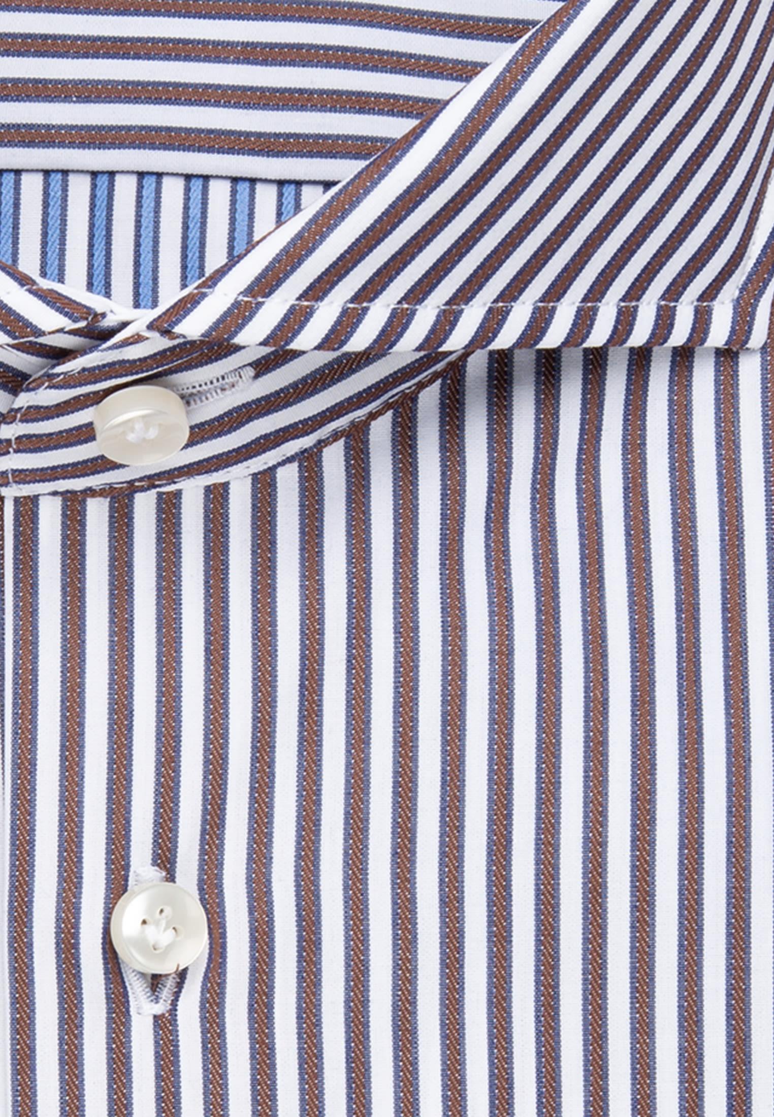 Popeline Business Hemd in Slim Fit mit Haifischkragen in Braun |  Jacques Britt Onlineshop