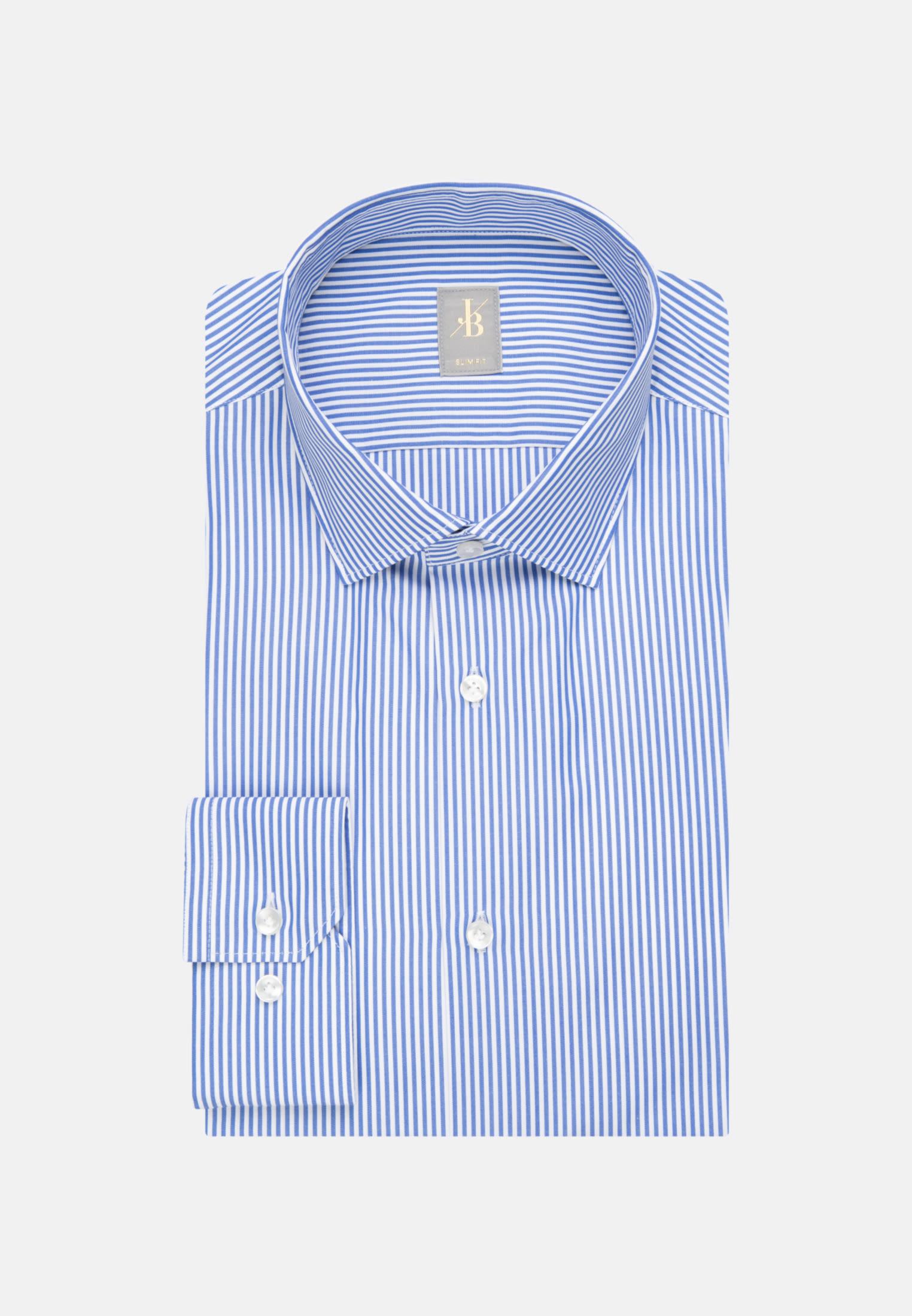Popeline Business Hemd in Slim Fit mit Kentkragen und extra langem Arm in Blau    Jacques Britt Onlineshop