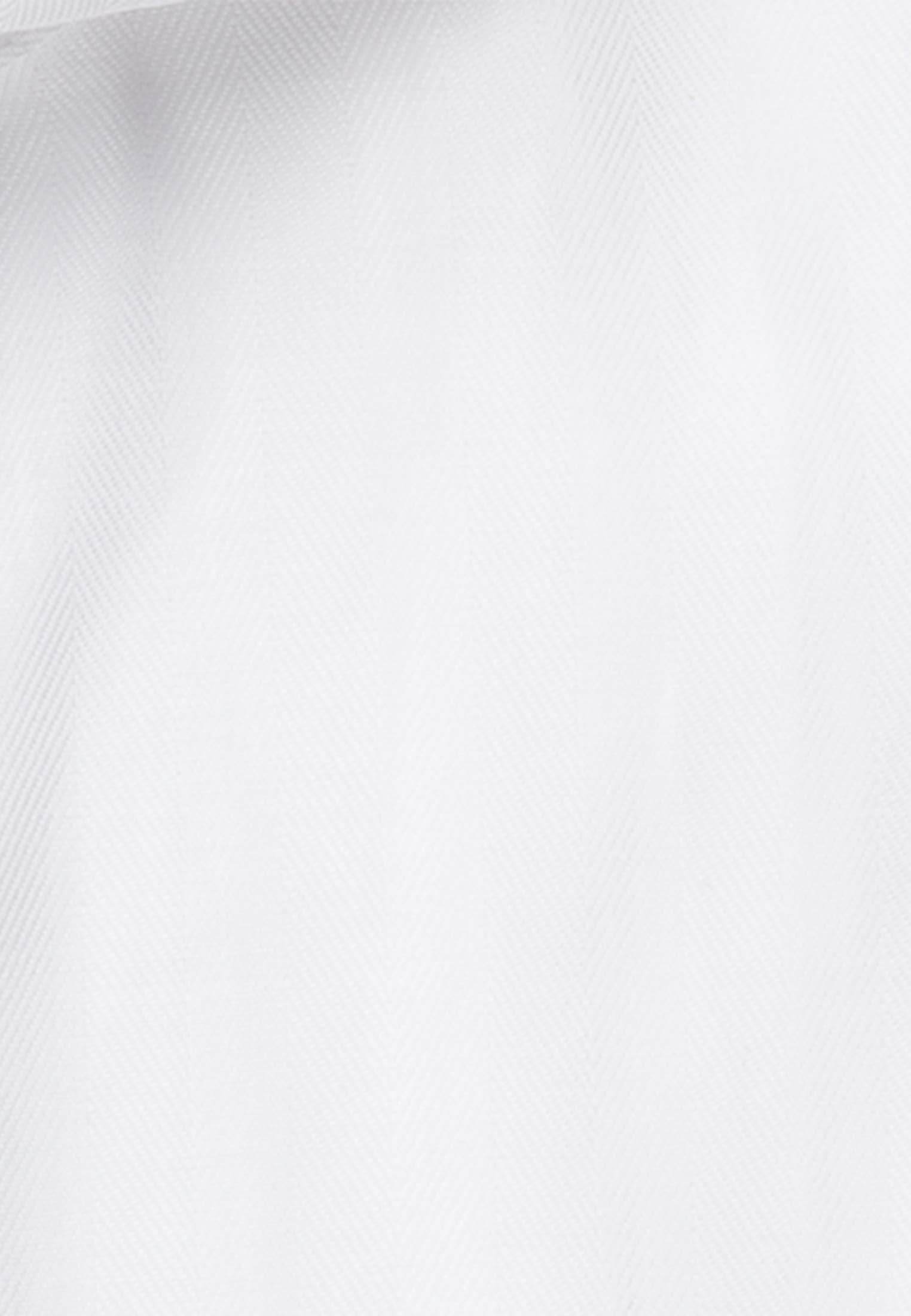 Fischgrat Business Hemd in Slim Fit mit Haifischkragen in Weiß |  Jacques Britt Onlineshop