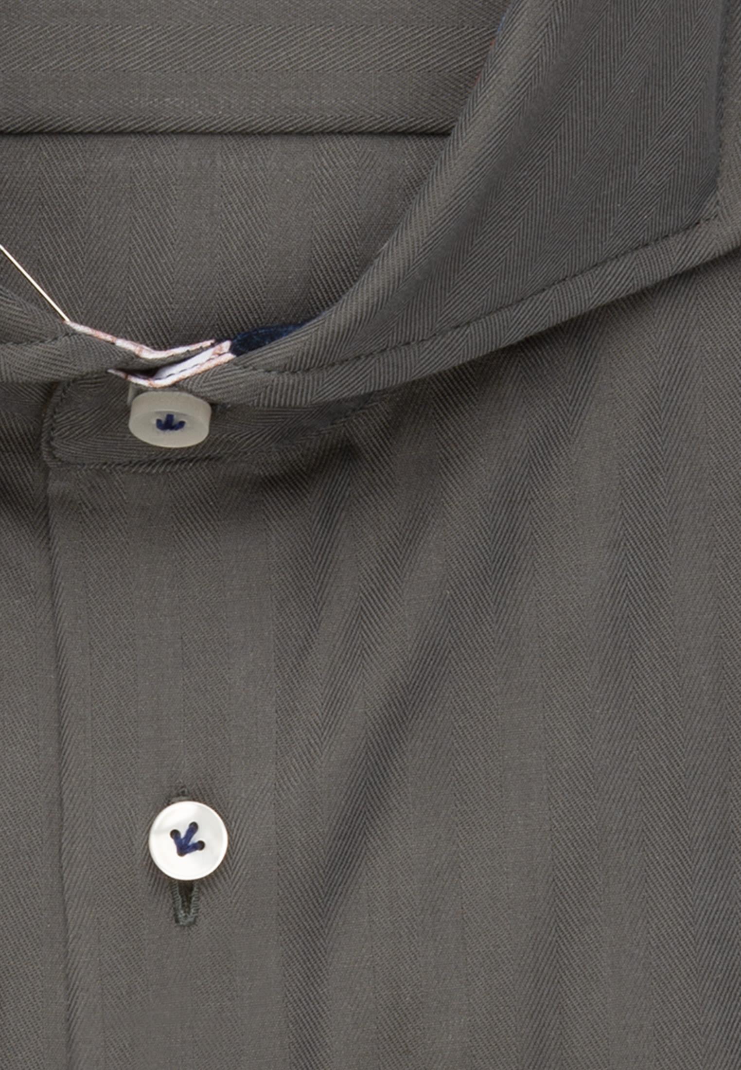 Fischgrat Business Hemd in Slim Fit mit Haifischkragen in Grün    Jacques Britt Onlineshop