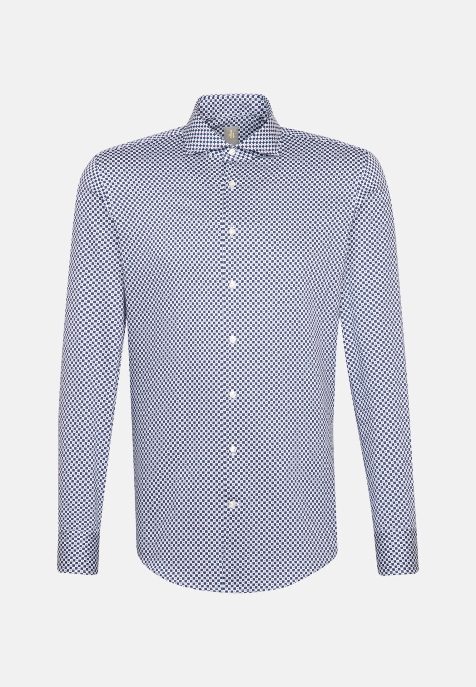Satin Business Hemd in Custom Fit mit Haifischkragen in Mittelblau    Jacques Britt Onlineshop