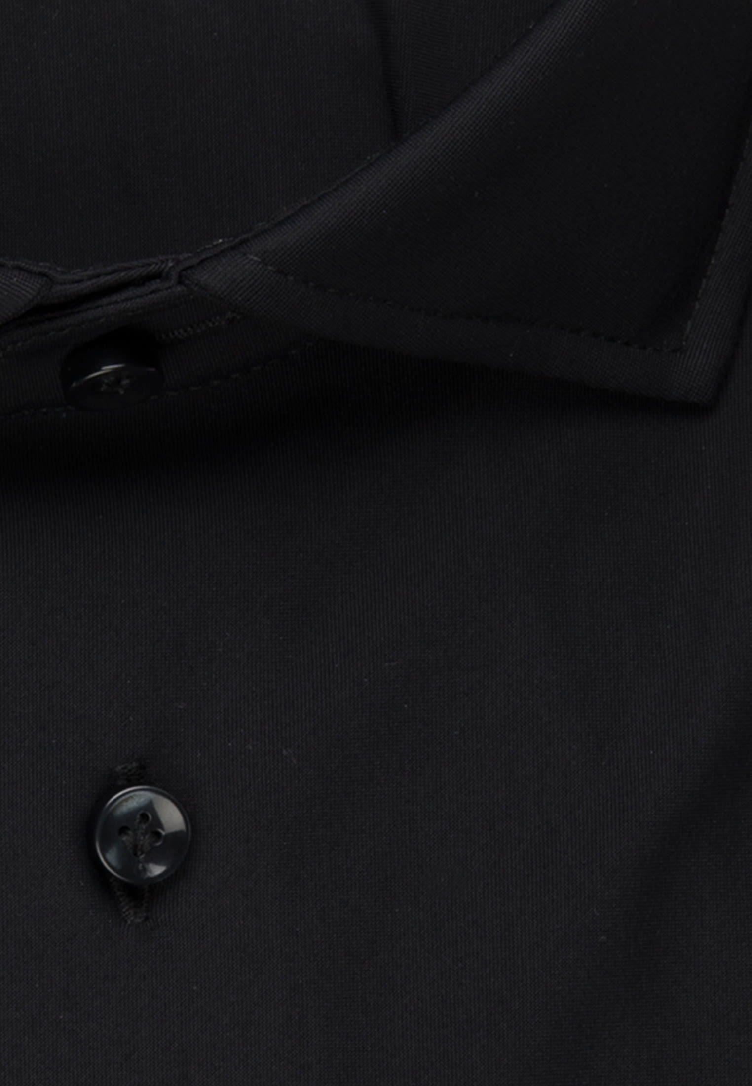 Phantasiebindung Smart Casual Hemd in Perfect Fit mit Haifischkragen in Schwarz    Jacques Britt Onlineshop