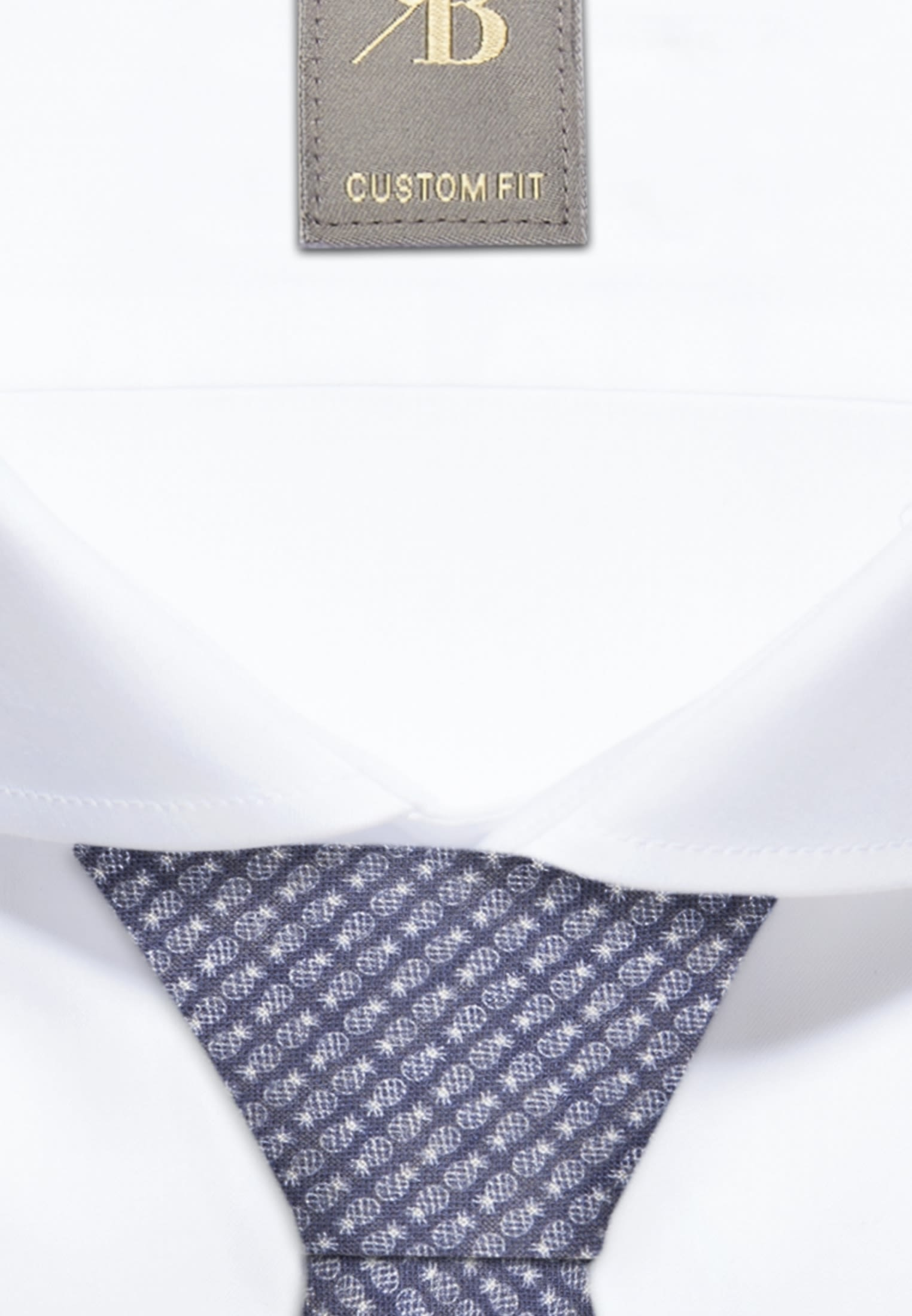 Krawatte aus 100% Leinen 7 cm Breit in Mittelblau |  Jacques Britt Onlineshop