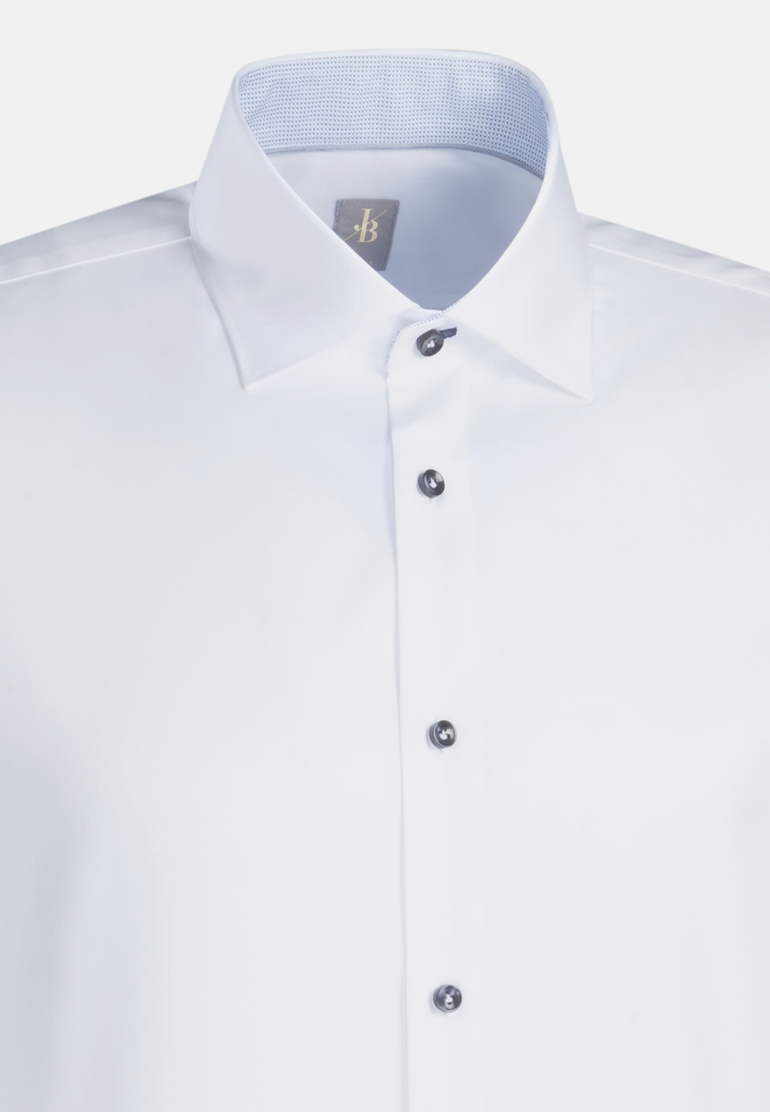 Twill Business Hemd in Slim Fit mit Kentkragen in Weiß    Jacques Britt Onlineshop