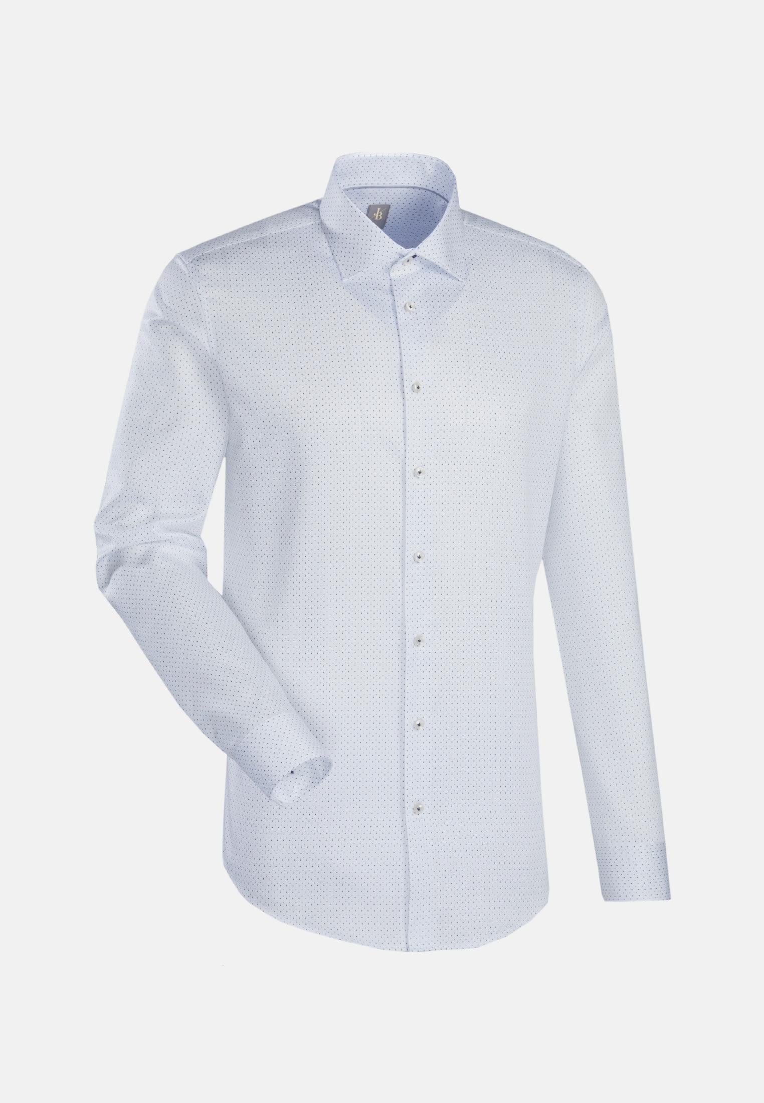 Struktur Business Hemd in Slim Fit mit Kentkragen in Weiß    Jacques Britt Onlineshop