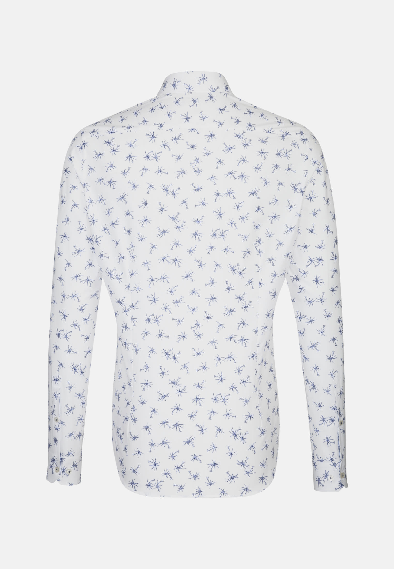 Popeline Smart Casual Hemd in Slim Fit mit Kentkragen in Dunkelblau    Jacques Britt Onlineshop