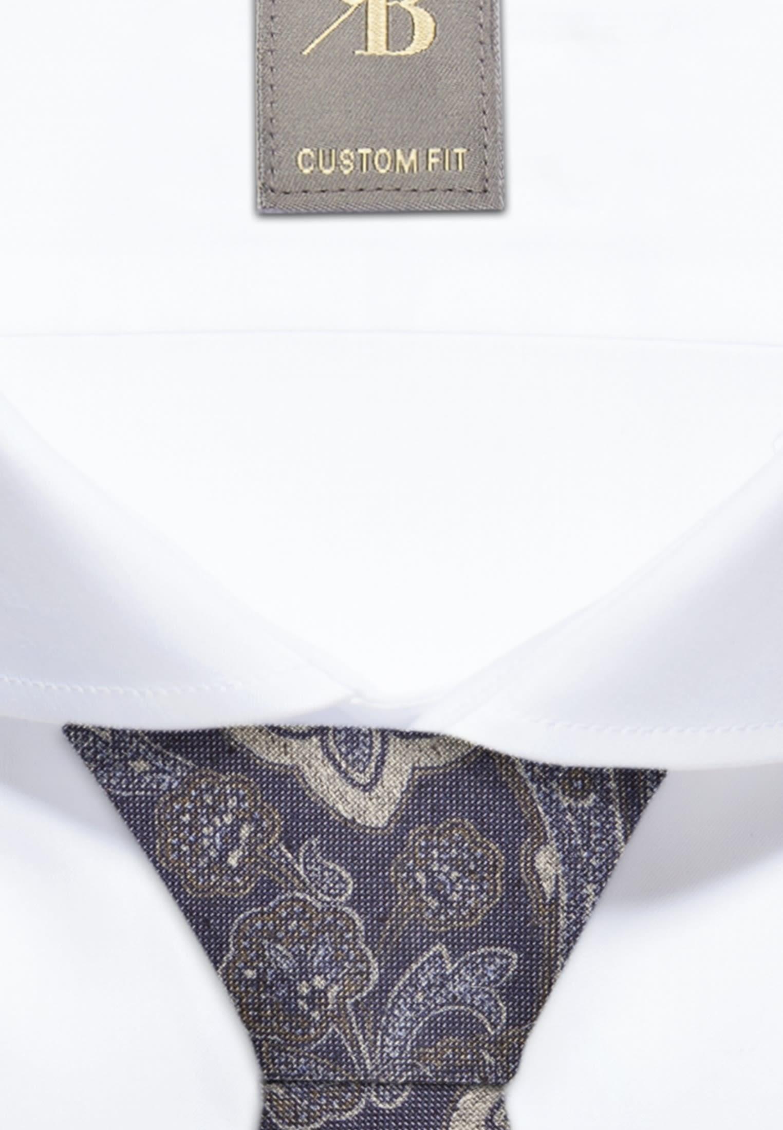 Krawatte aus Seidenmischung 7 cm Breit in Dunkelblau    Jacques Britt Onlineshop