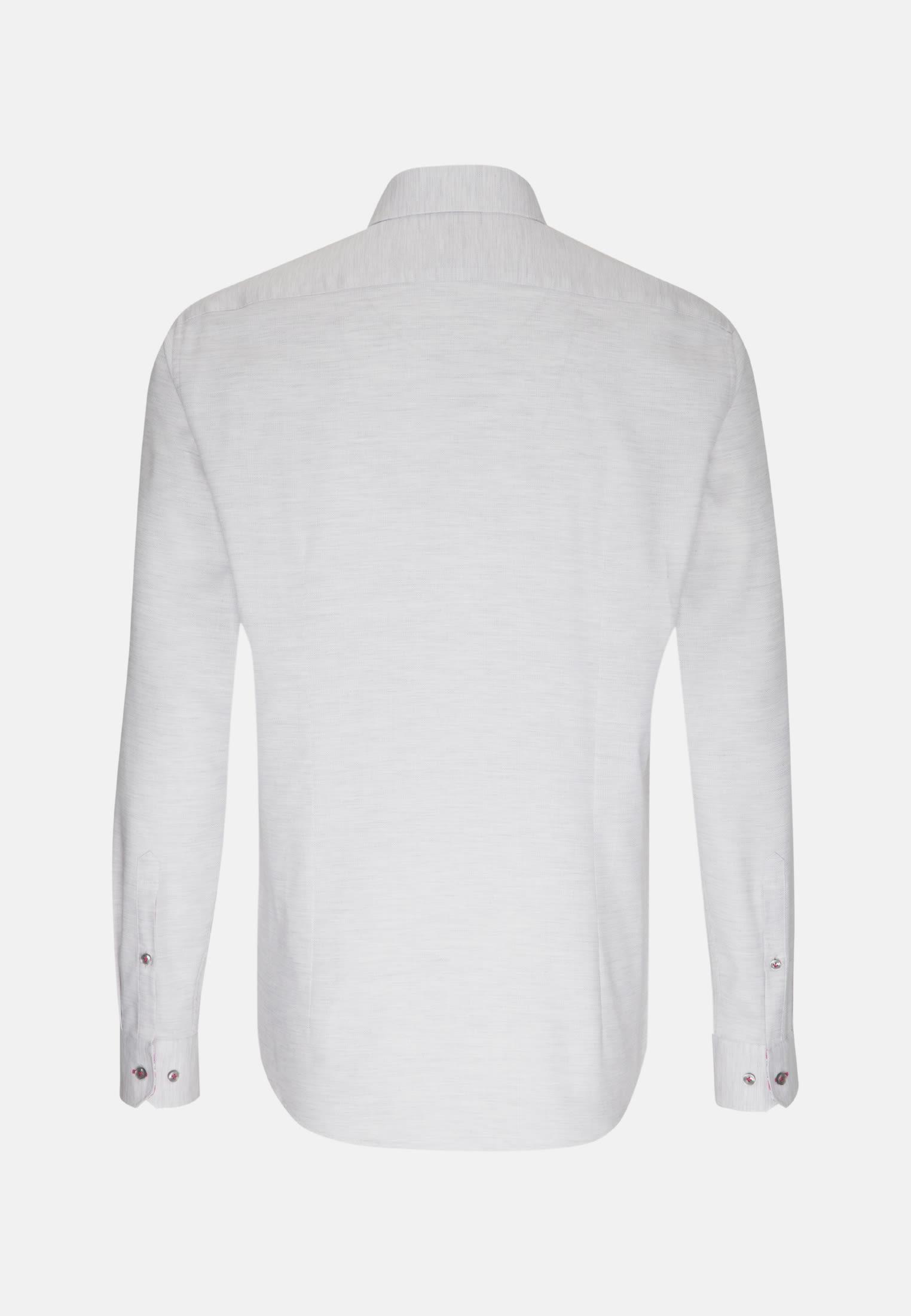 Struktur Smart Casual Hemd in Slim Fit mit Kentkragen in Grau    Jacques Britt Onlineshop