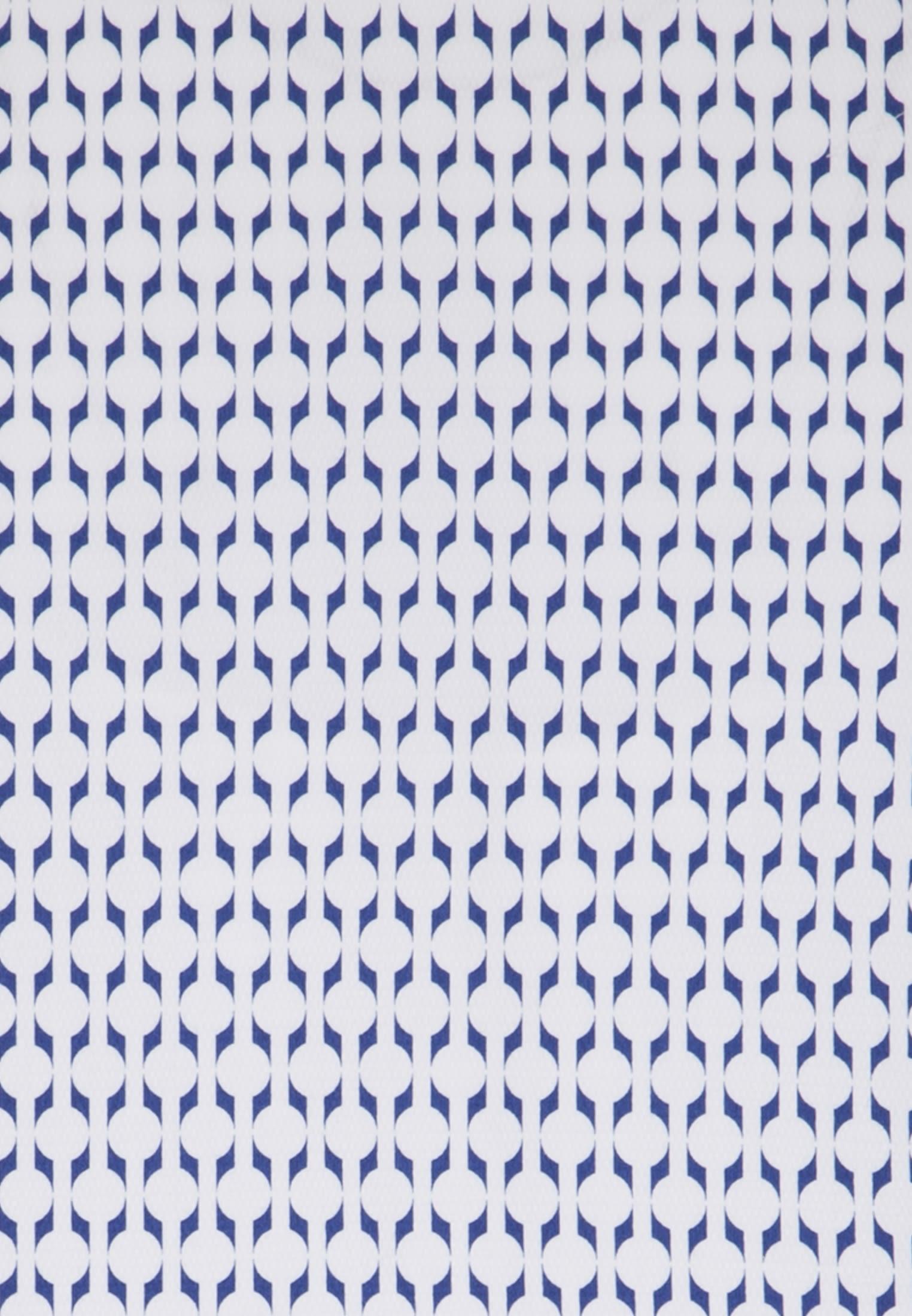 Struktur Business Hemd in Slim Fit mit Kentkragen in Mittelblau |  Jacques Britt Onlineshop