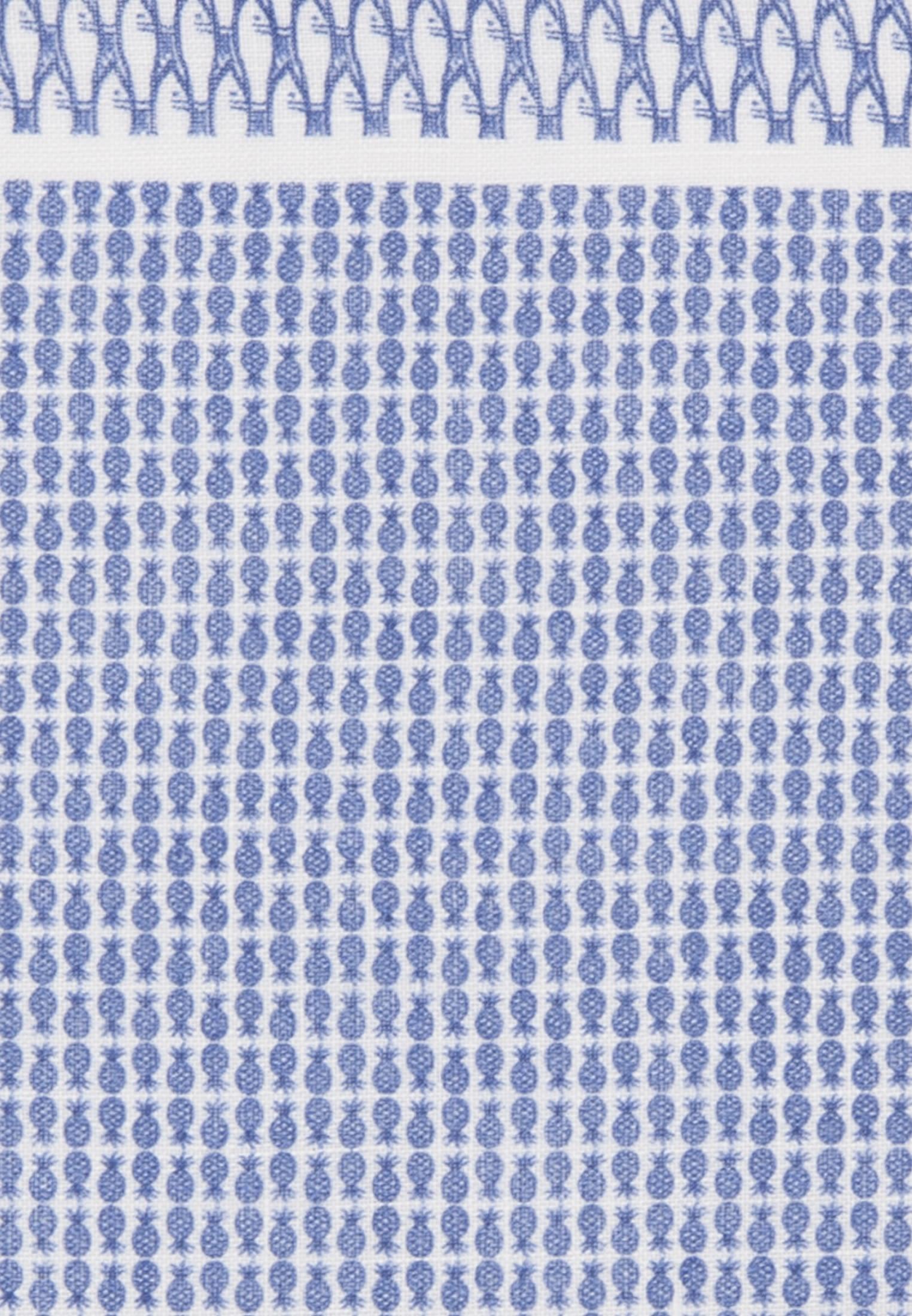 Einstecktuch aus 100% Leinen in Mittelblau |  Jacques Britt Onlineshop