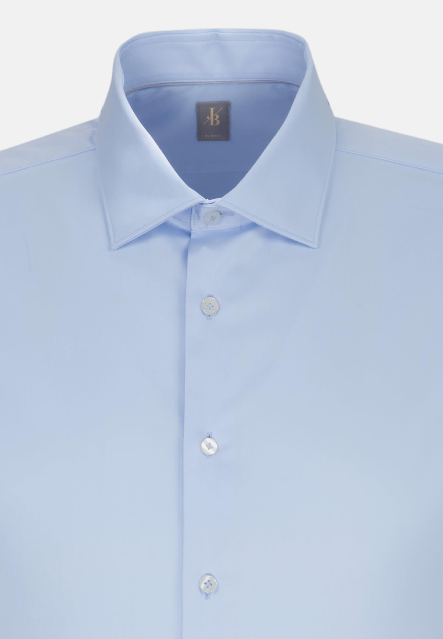 Satin Business Hemd in Slim Fit mit Kentkragen in Hellblau |  Jacques Britt Onlineshop