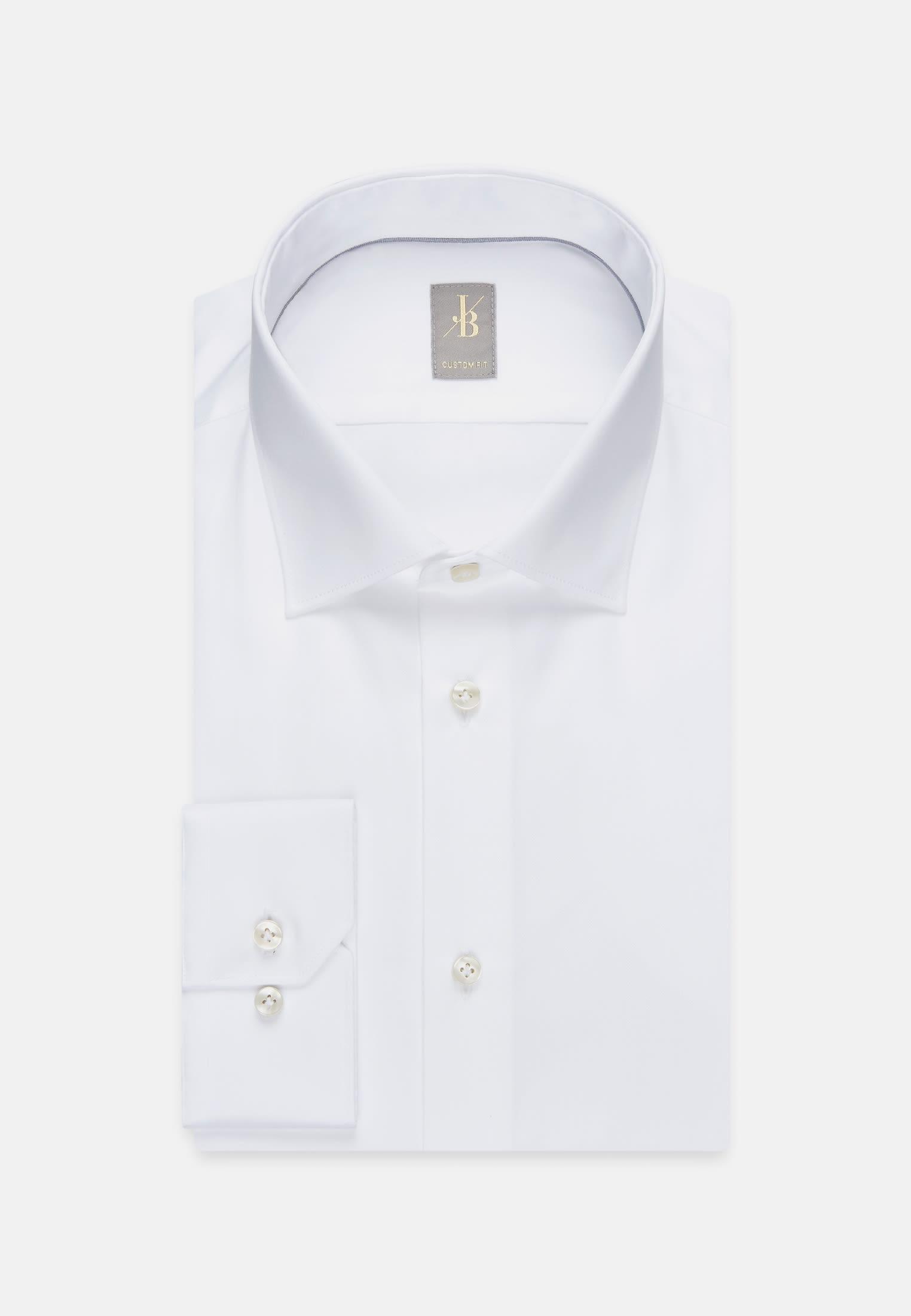 Satin Business Hemd in Slim Fit mit Kentkragen in Weiß    Jacques Britt Onlineshop
