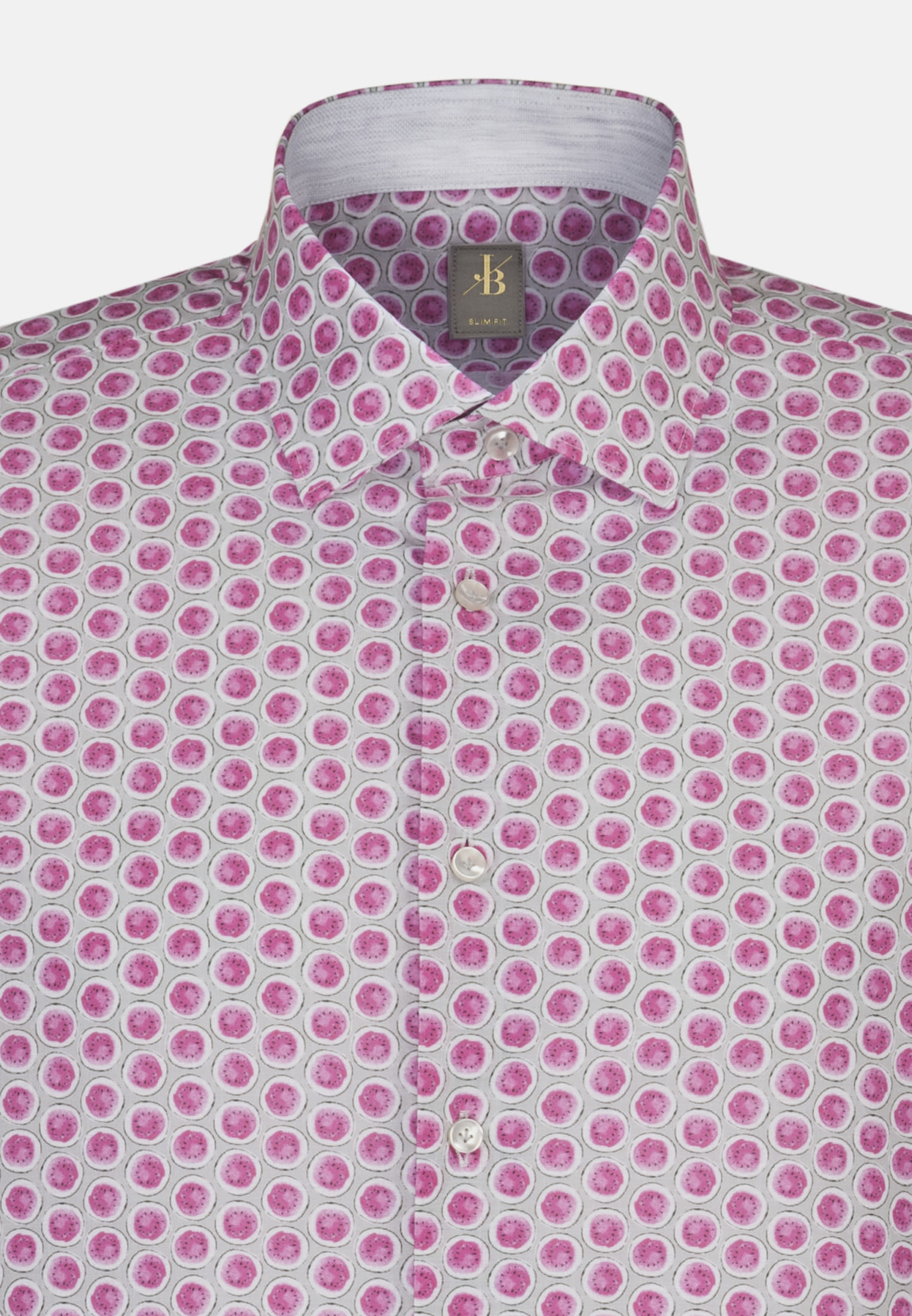 Popeline Smart Casual Hemd in Slim Fit mit Kentkragen in Rosa/Pink |  Jacques Britt Onlineshop