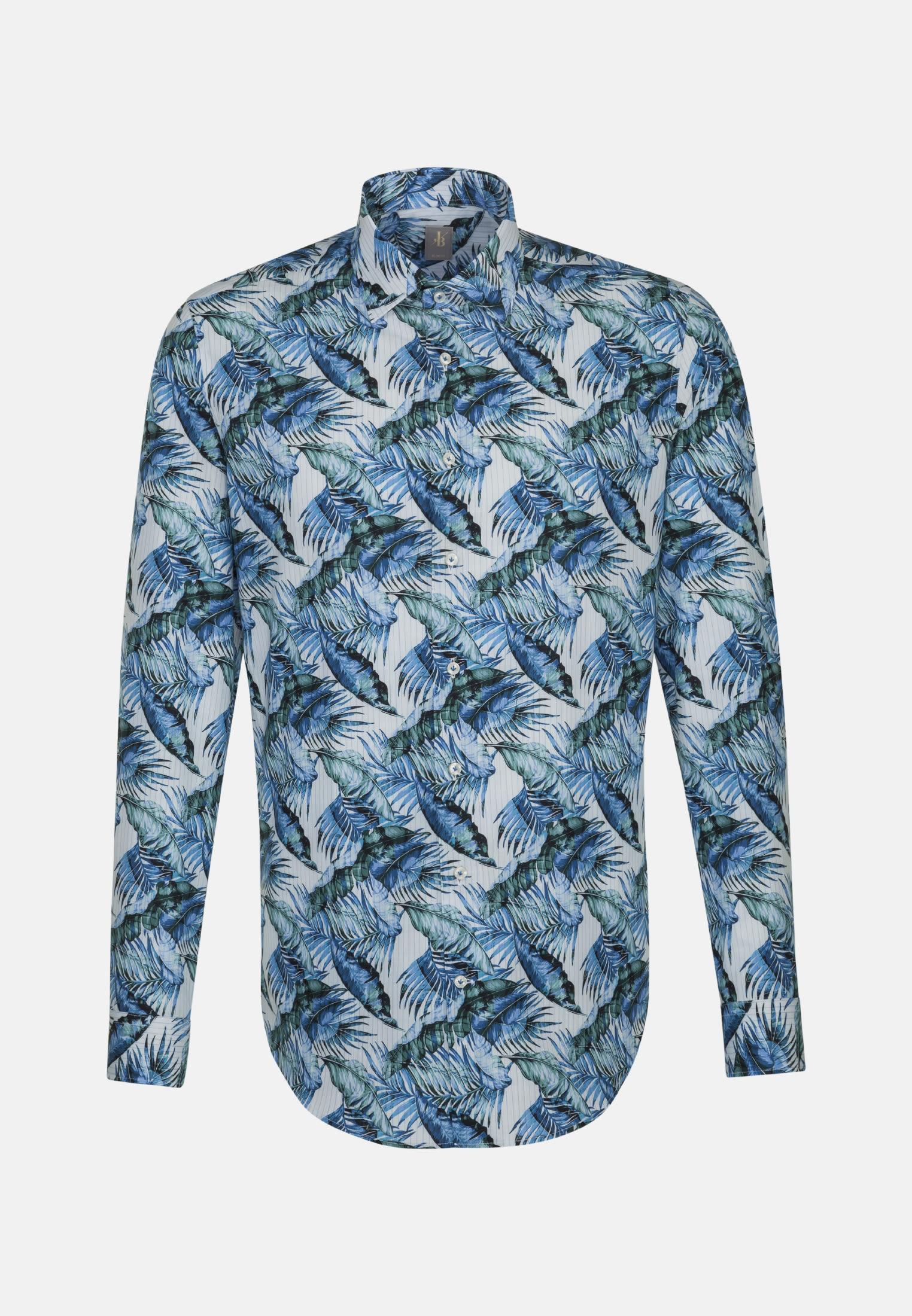 Popeline Business Hemd in Slim Fit mit Kentkragen in Mittelblau    Jacques Britt Onlineshop
