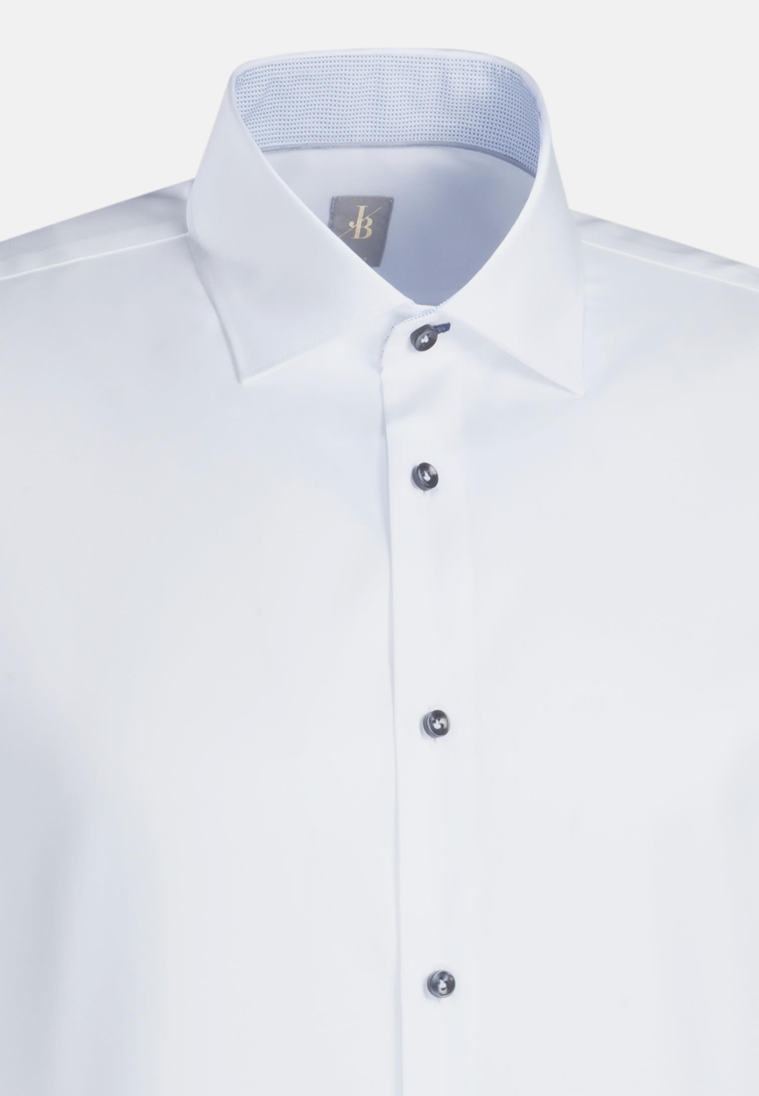 Twill Business Hemd in Slim Fit mit Kentkragen und extra langem Arm in Weiß |  Jacques Britt Onlineshop