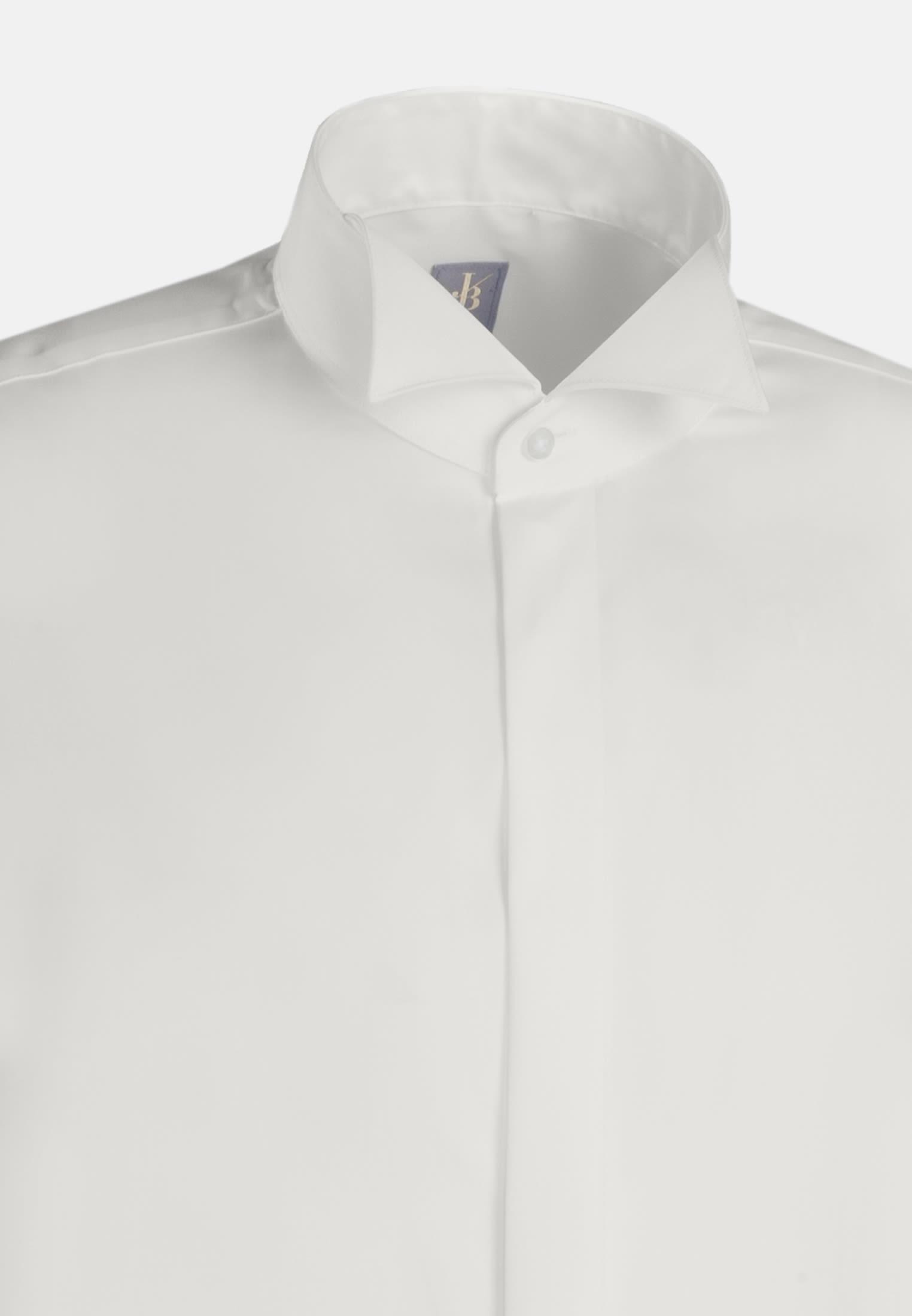 Popeline Smokinghemd in Custom Fit mit Kläppchenkragen in Ecru |  Jacques Britt Onlineshop