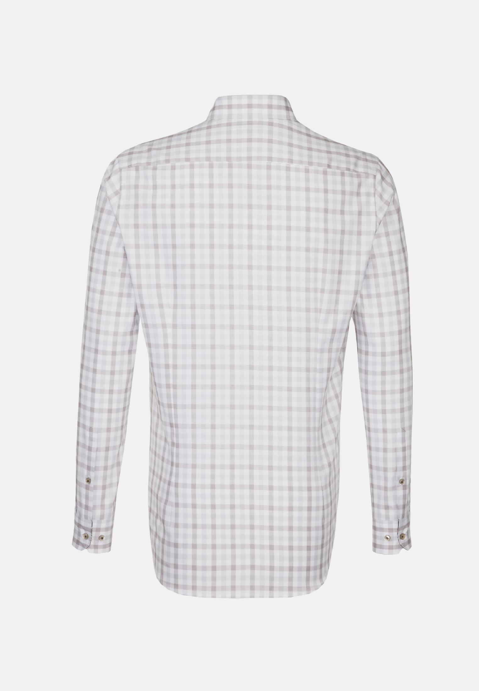 Oxford Business Hemd in Custom Fit mit Button-Down-Kragen in Braun    Jacques Britt Onlineshop