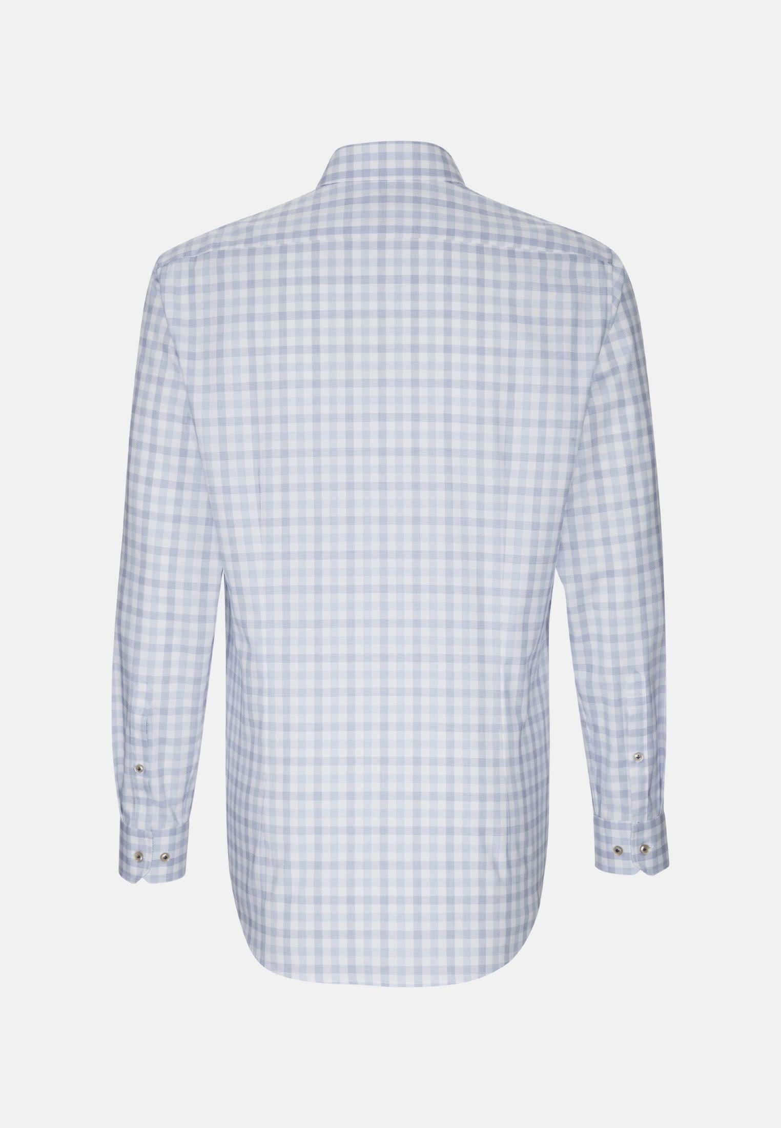 Oxford Business Hemd in Custom Fit mit Button-Down-Kragen in Mittelblau |  Jacques Britt Onlineshop