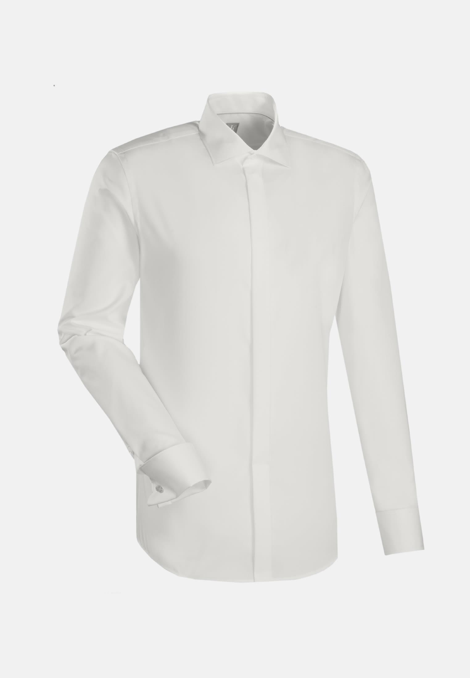 Popeline Smokinghemd in Custom Fit mit Kentkragen in Ecru |  Jacques Britt Onlineshop
